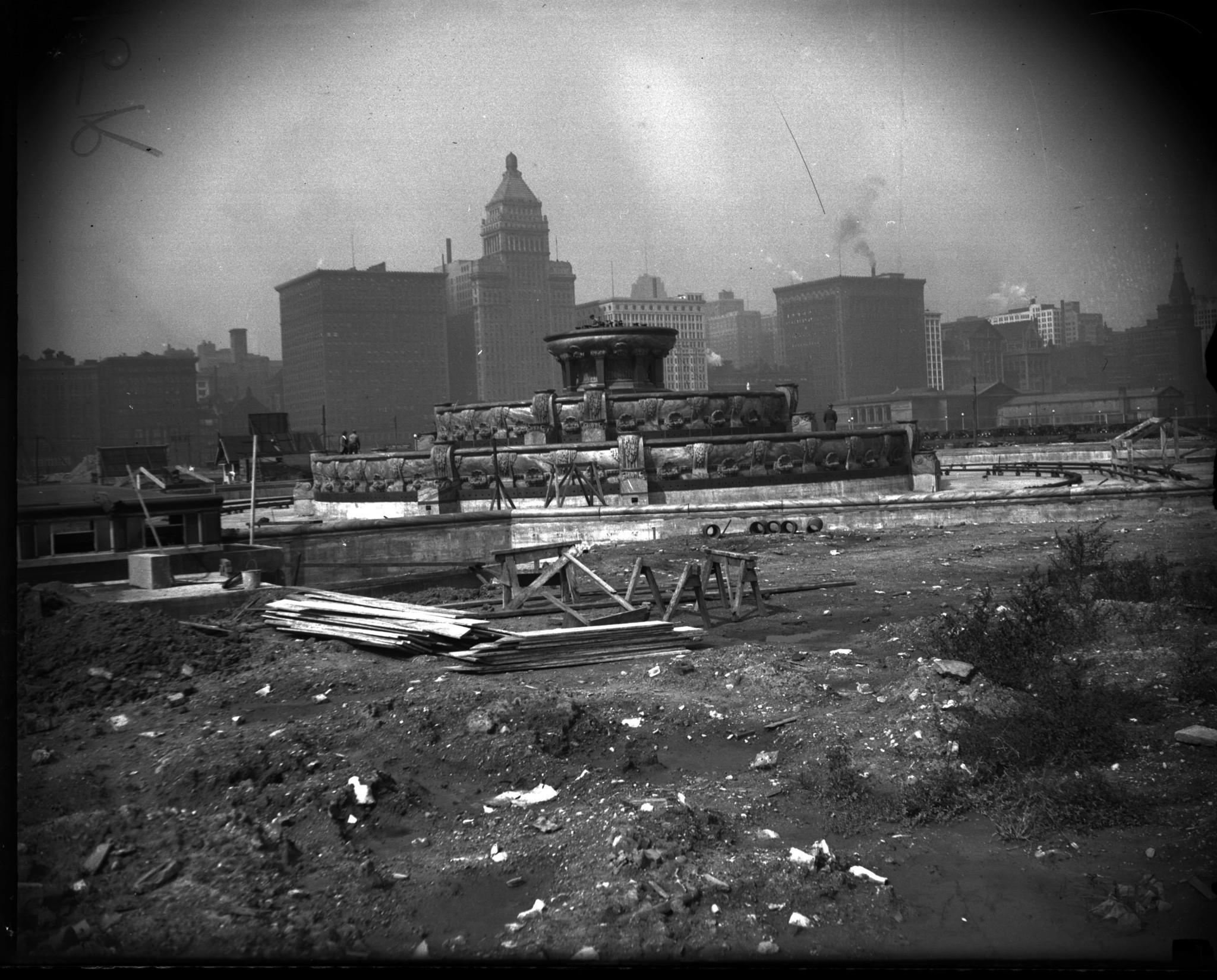Vintage Buckingham Fountain Chicago Tribune