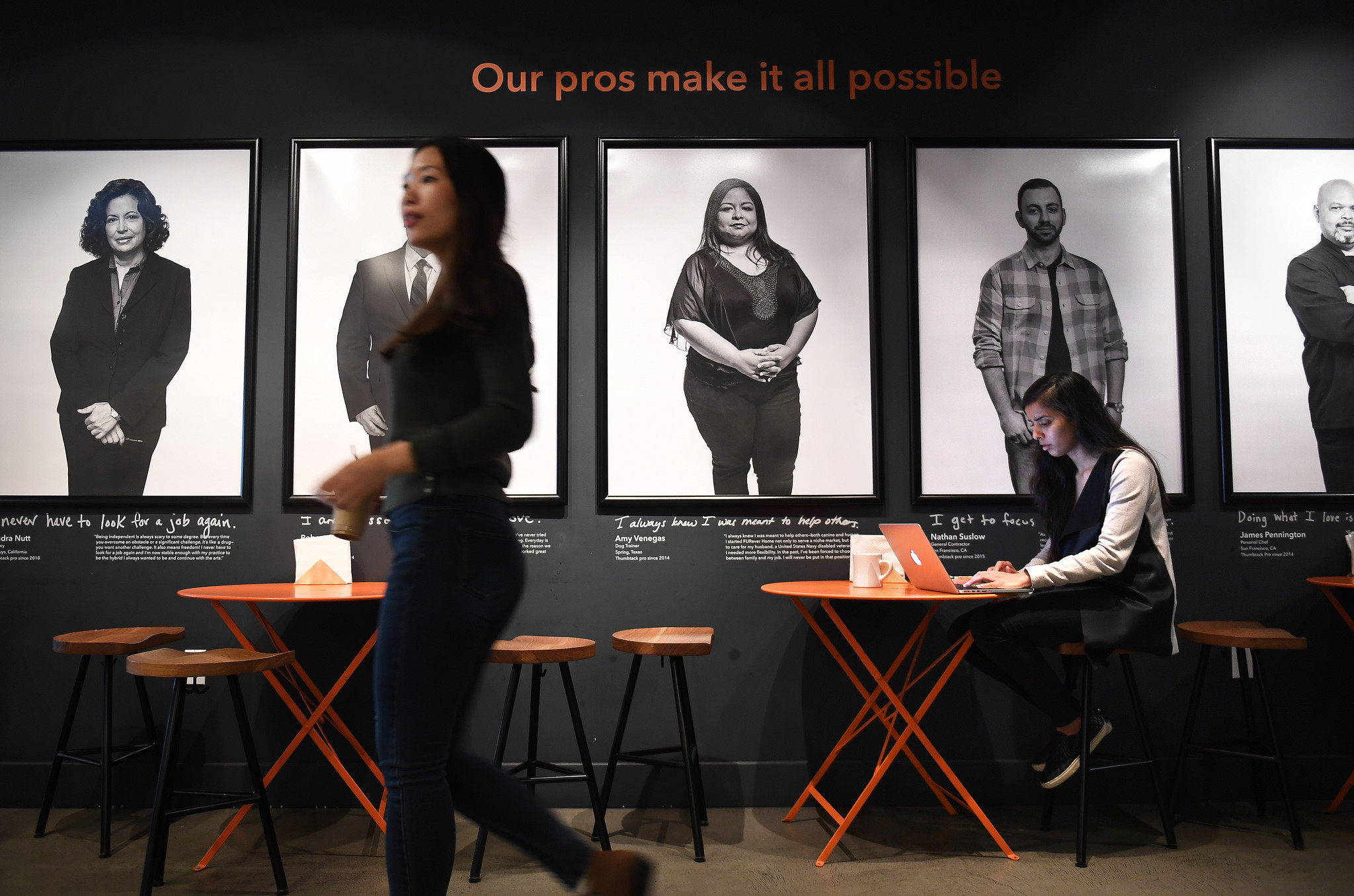 Thumbtack's offices in San Francisco employ politicos who worked for both President Bush and Obama.