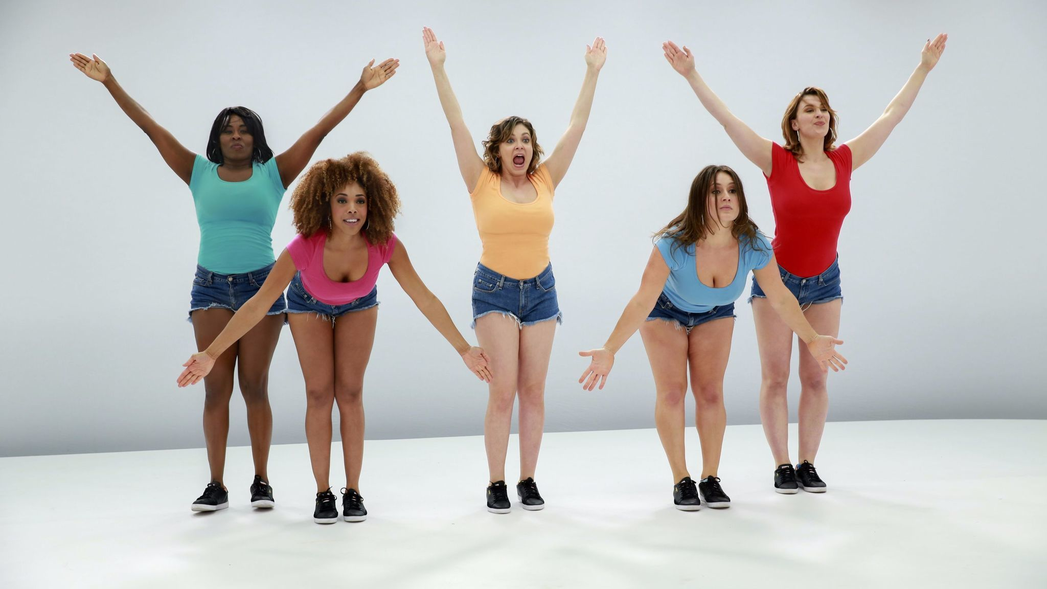 "Rachel Bloom as Rebecca (center) in ""Crazy Ex-Girlfriend."""