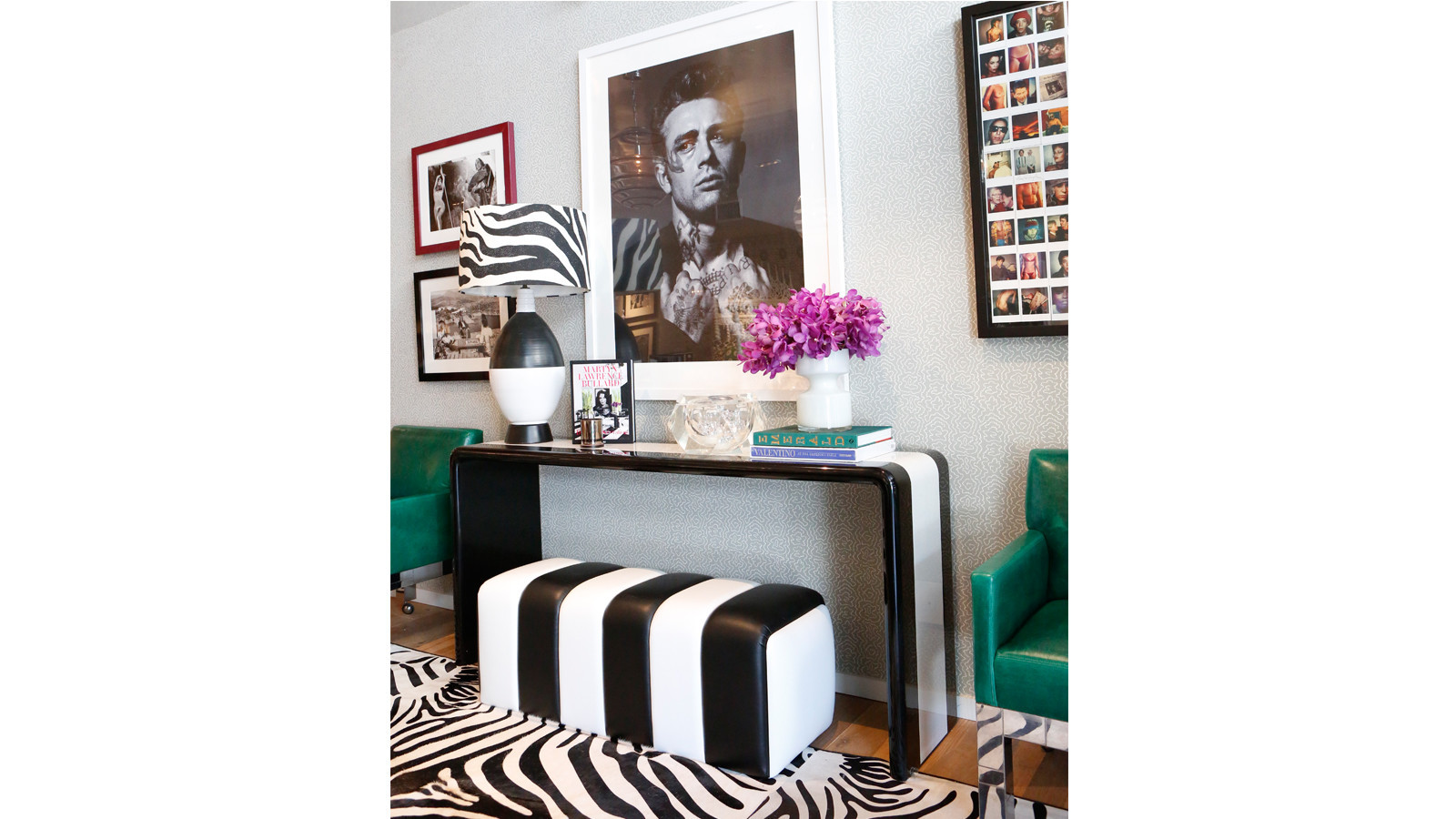 Bullard originally designed this black-and-white console for Kris Jenner.