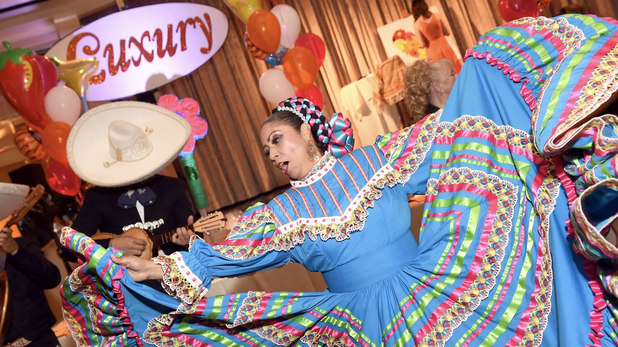Mariachi performers turn up the festive vibe at the Race to Erase MS event at the Beverly Hilton on May 5.