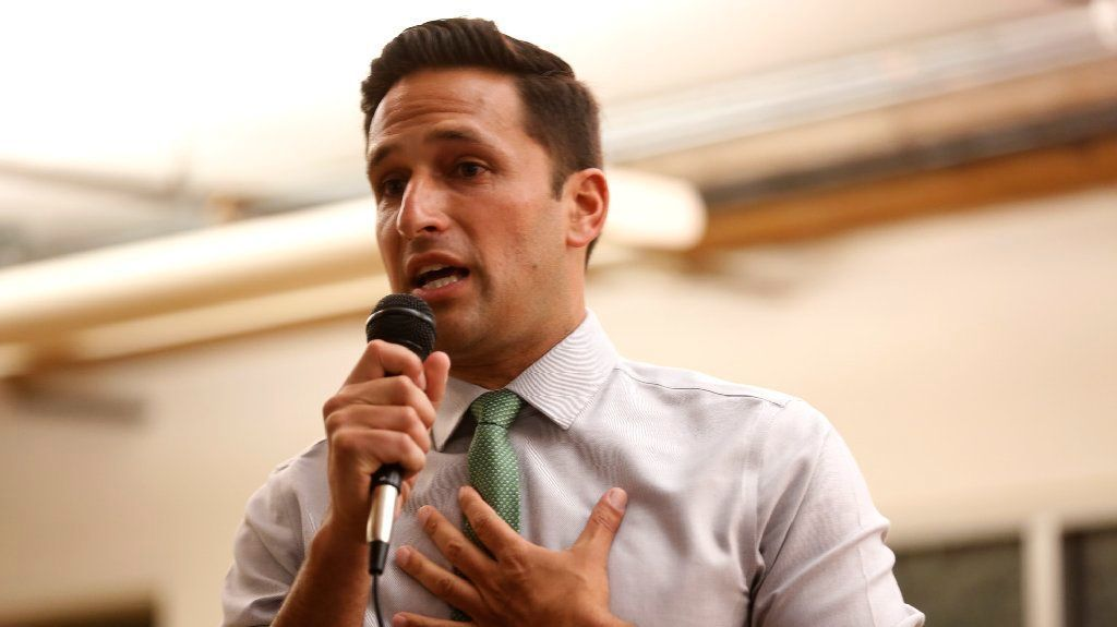 District 1 challenger Joe Bray-Ali at a candidate debate event last month in Los Angeles.