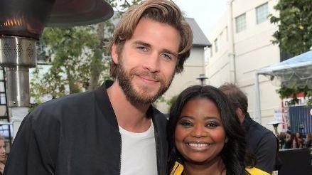 Liam Hemsworth, left, and Octavia Spencer.