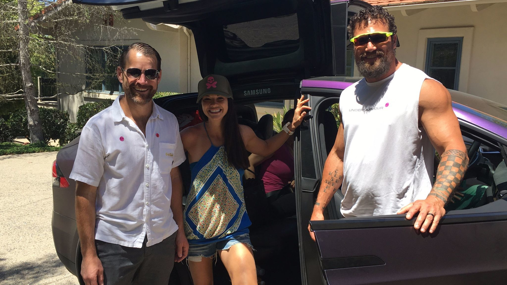 The three-person Badwater team prepares to leave Rancho Santa Fe.