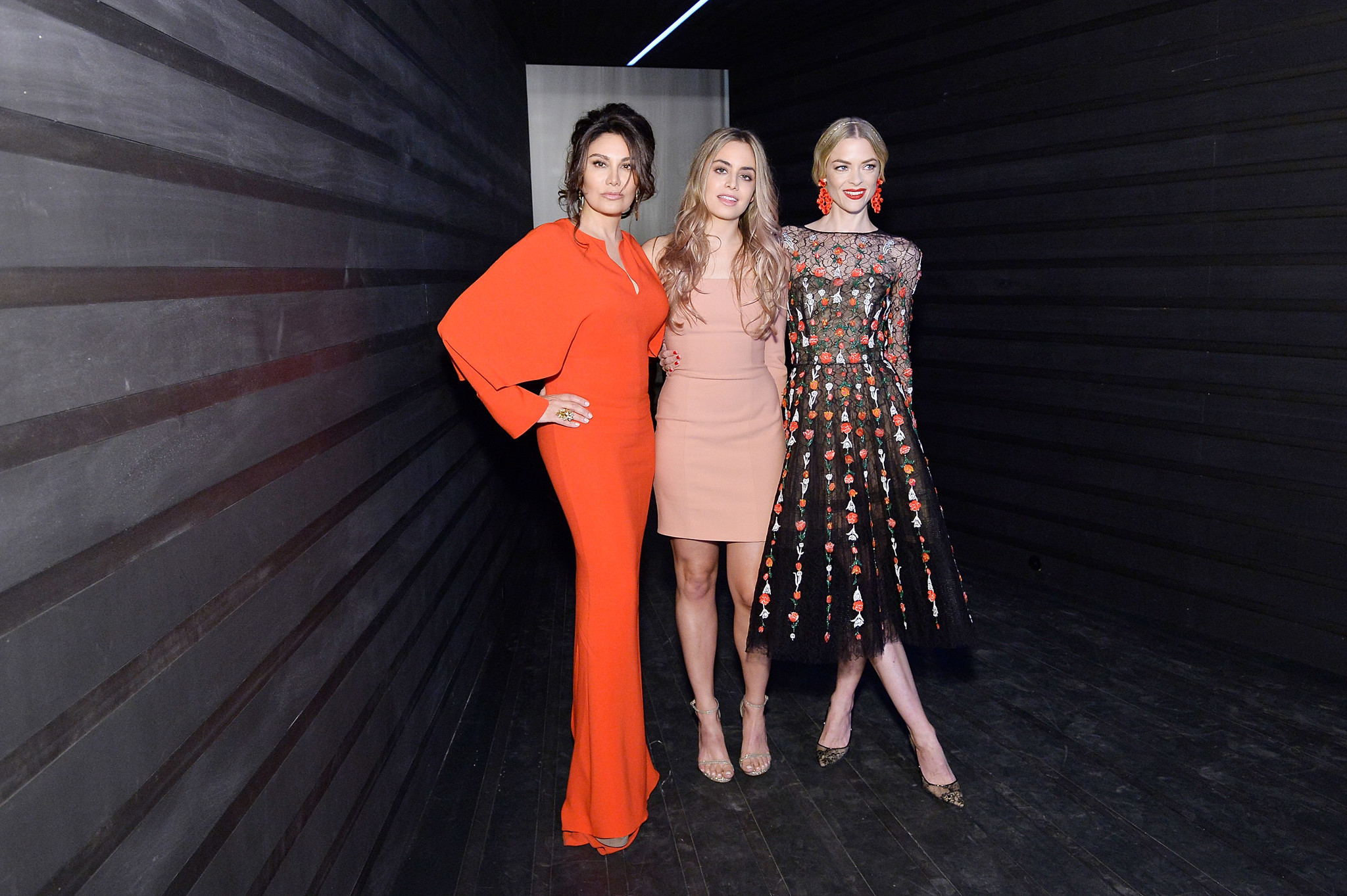 Erriette Lenas, left, Victoria Lenas and Jaime King.