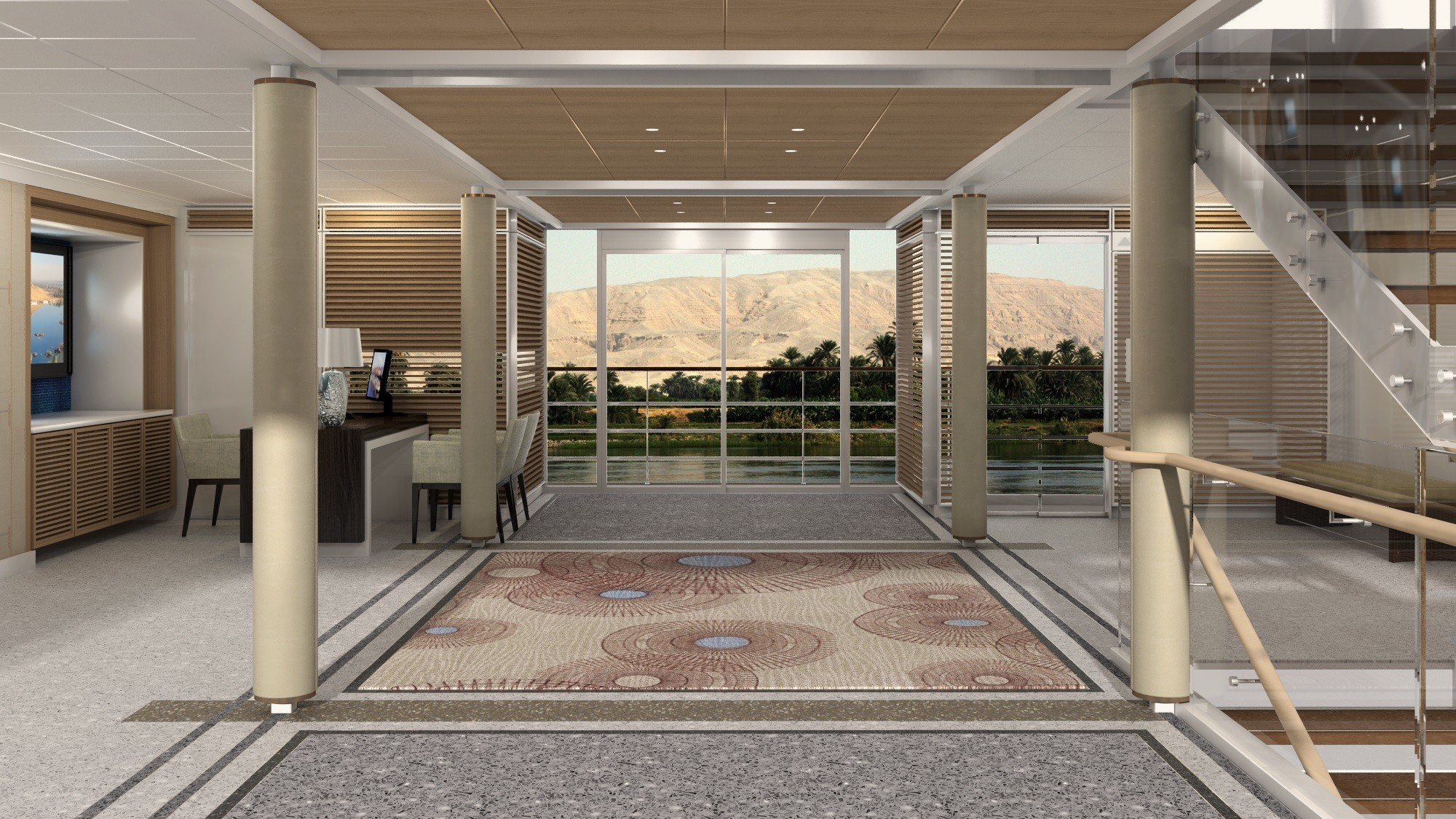 Reception area (artist's rendering).
