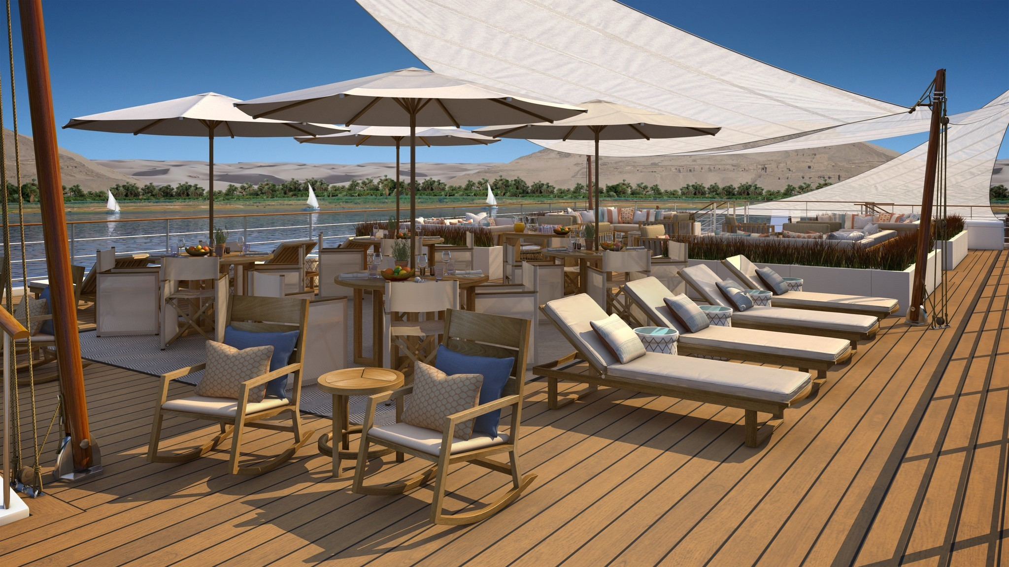 The sun deck (artist's rendering).