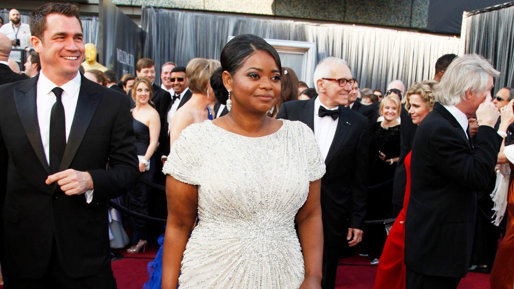 Oscar Winner Octavia Spencer Wears A Tadashi Shoji Gown To The 84th Academy Awards In Los