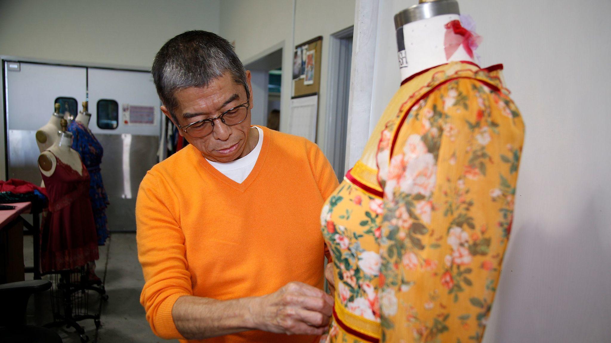 Tadashi Shoji at his Vernon studio.