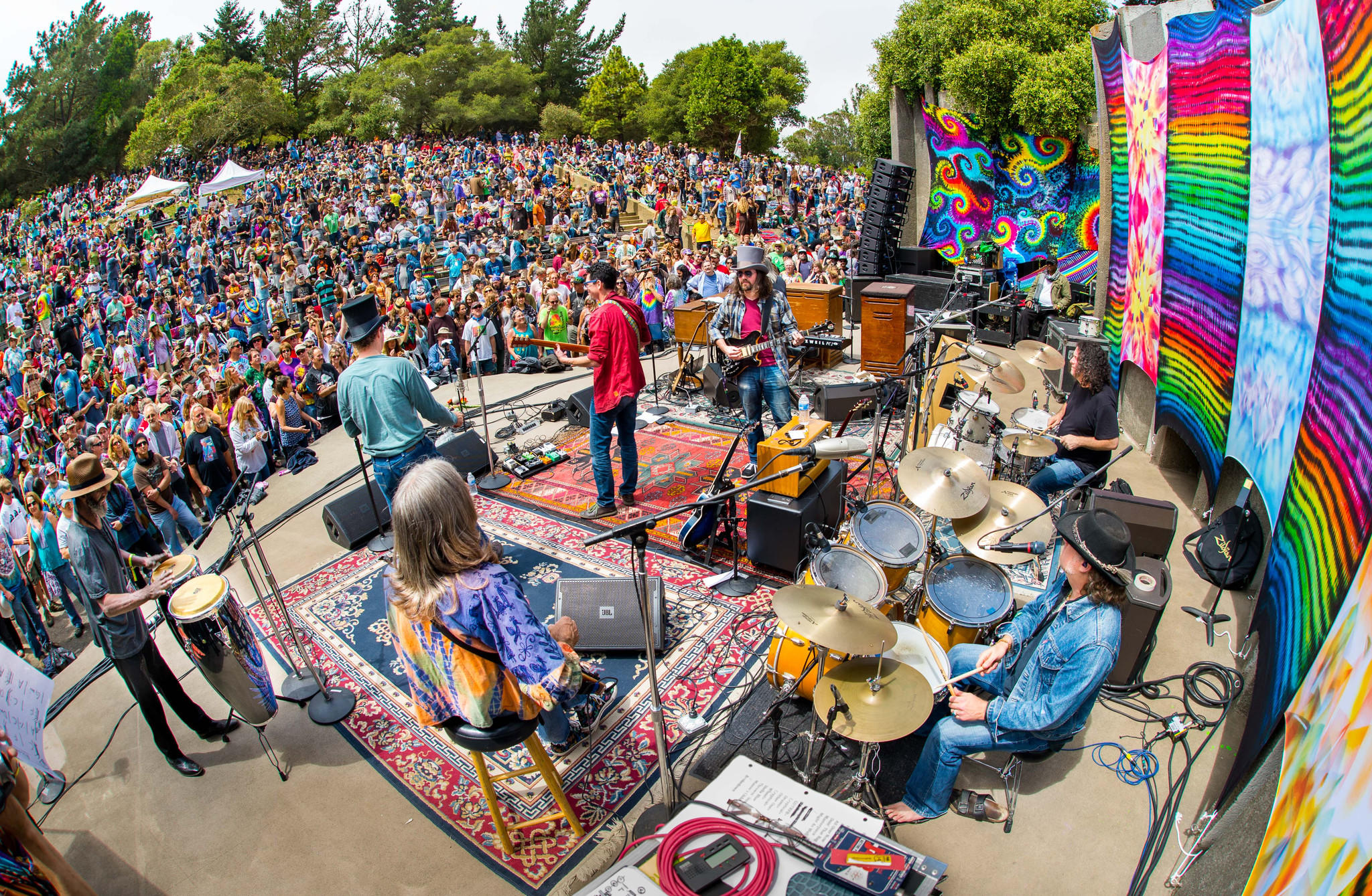 Jerry Day in 2014. This year Jerry Day celebrates the 75th anniversary of Jerry Garcia's birth at the Jerry Garcia Amphitheater in McLaren Park, near where the mellow Grateful Dead leader grew up. It also celebrates the 50th anniversary of the Summer of Love.