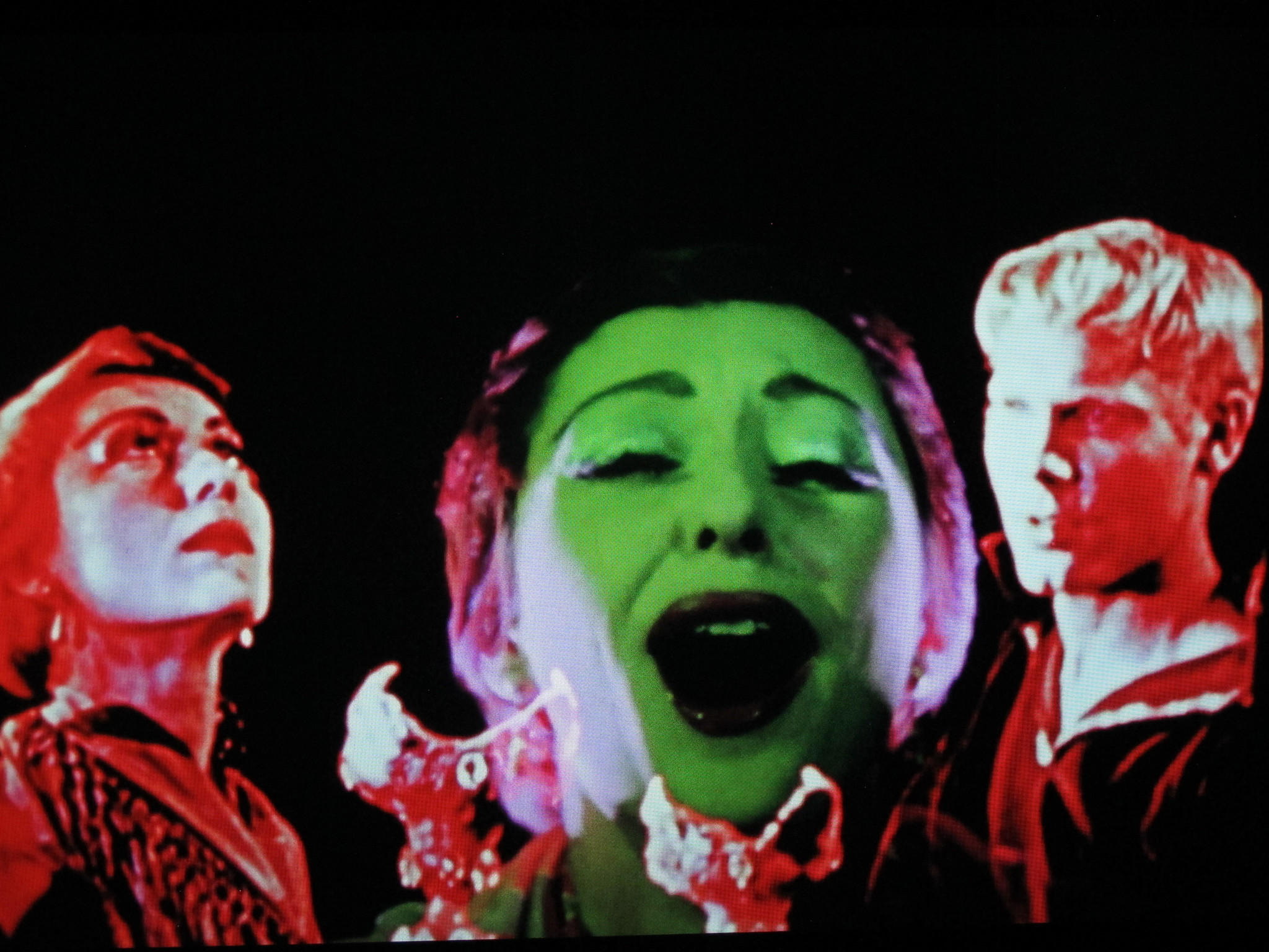 "Screen capture from Kenneth Anger's underground film ""Inauguration of the Pleasure Dome"" in the GLBT History Museum's exhibit ""Lavender-Tinted Glasses: A Groovy Gay Look at the Summer of Love."""
