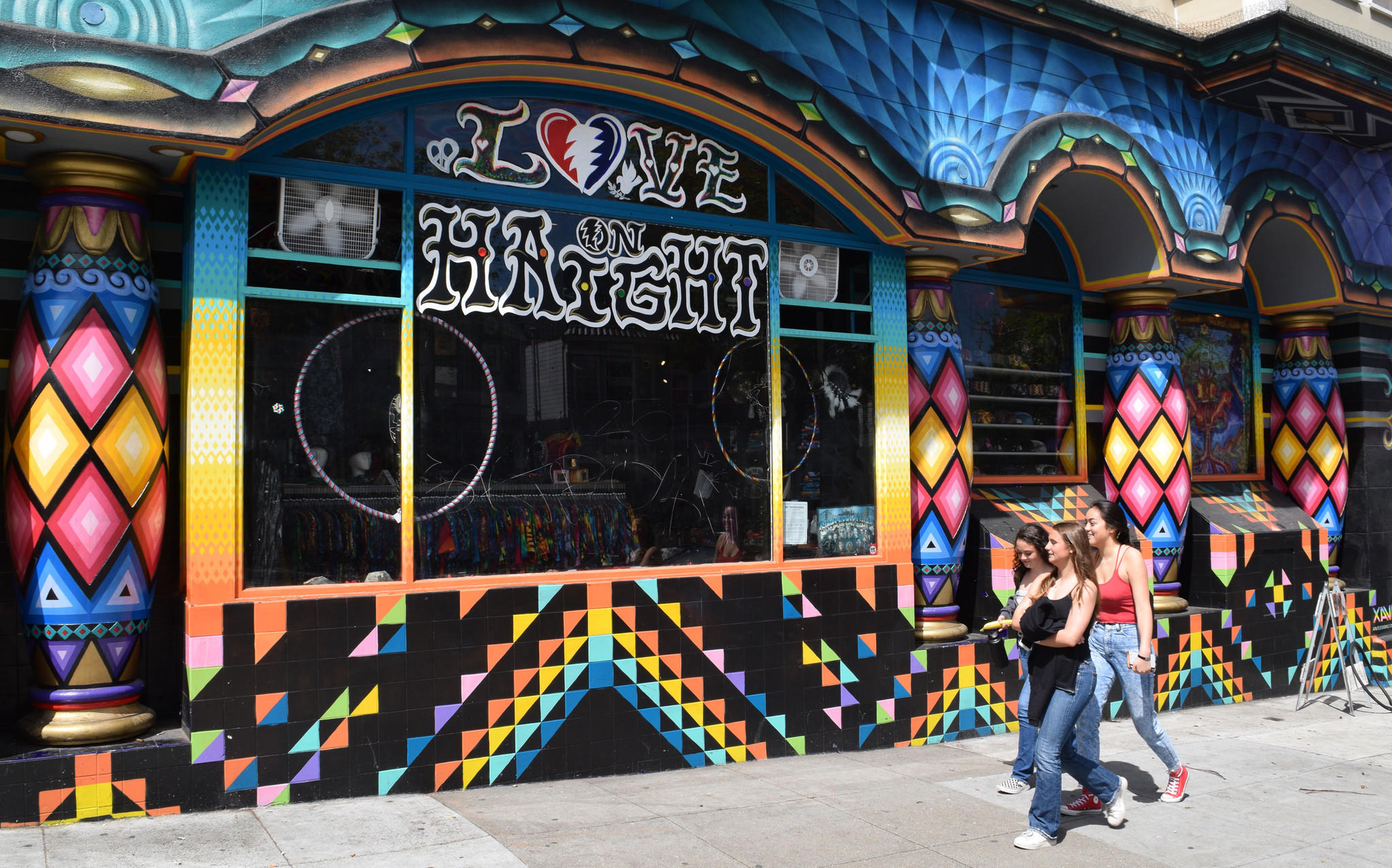 Colors leap out in a Free Love Tour of San Francisco's Haight-Ashbury neighborhood by Wes Leslie of Wild SF Walking Tours.