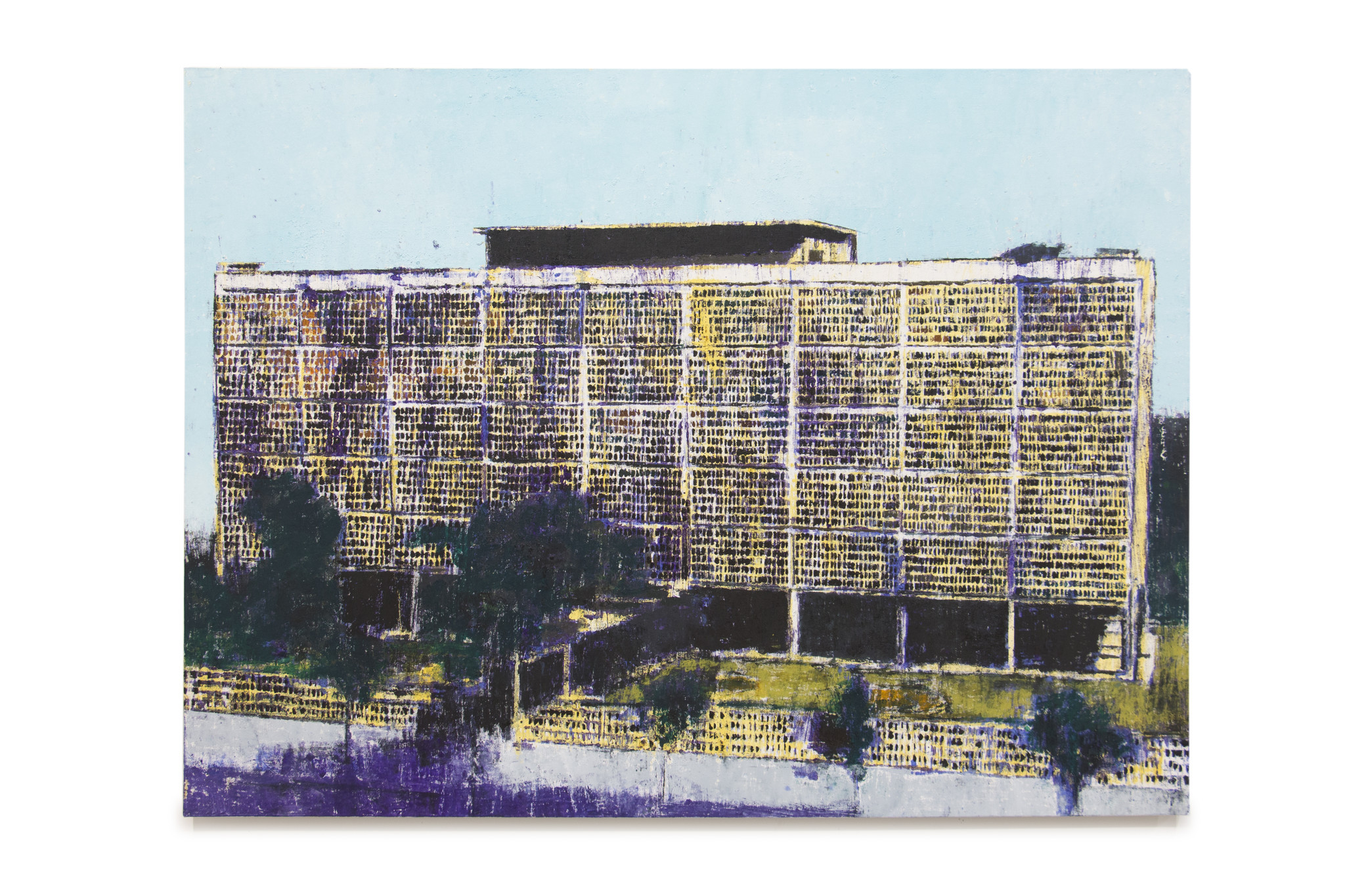 """""""US Embassy Saigon,"""" 2017, by Enoc Perez, on view at UTA Artist Space in Boyle Heights."""