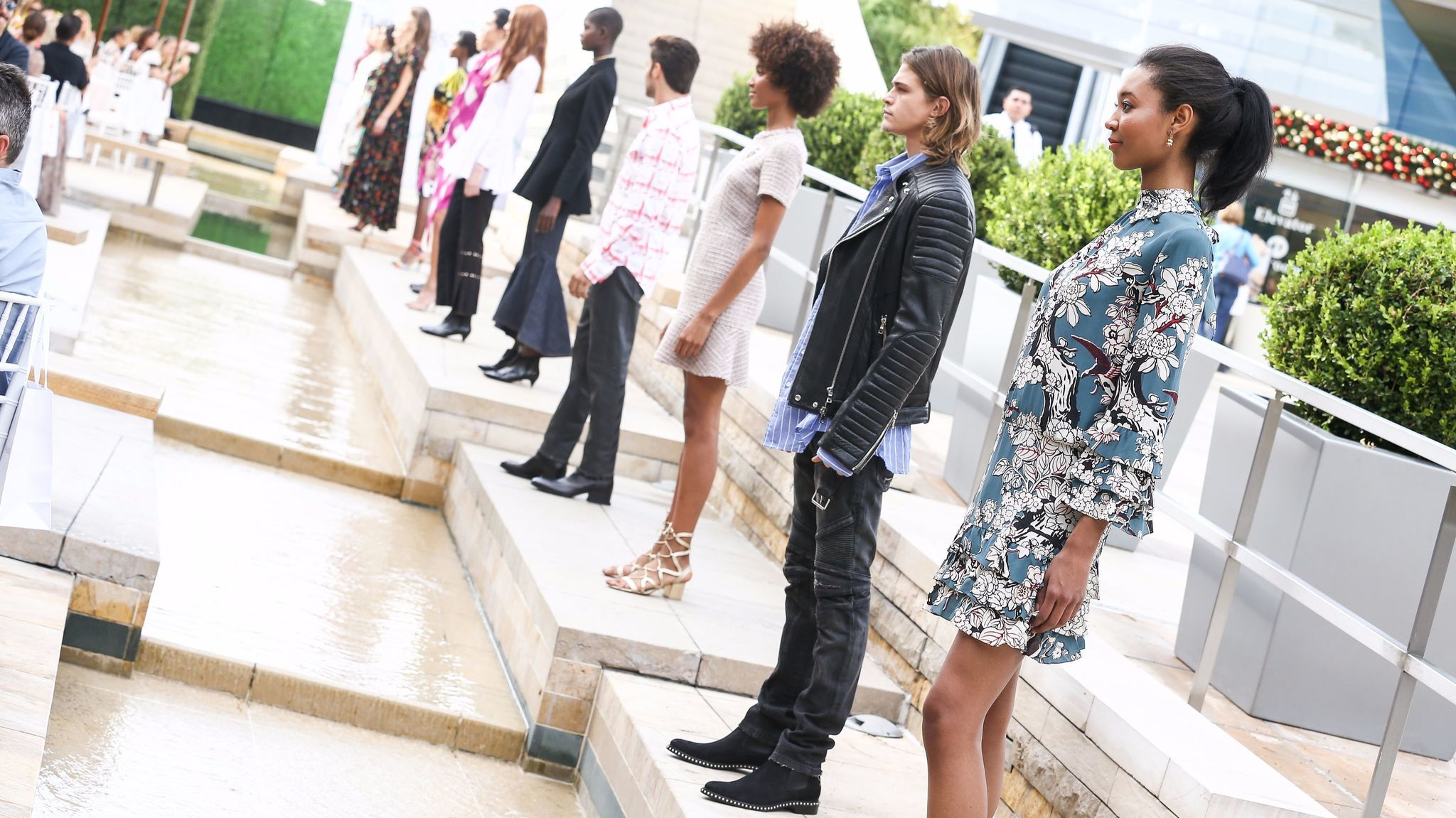 A fashion show at South Coast Plaza marks the arrival of the Webster's first West Coast brick-and-mortar store in November 2016.