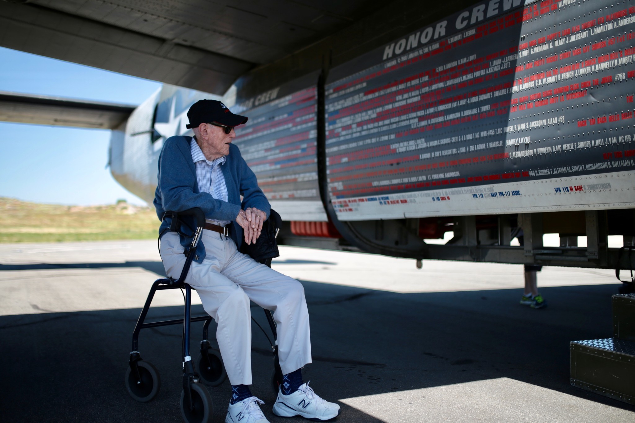 Alan Carlton, 98, took to the air again on May 4 aboard a B-24 in the Wings of Freedom tour that flew from Ramona to Carlsbad. The Carmel Valley resident spent more than a year in a Nazi prison camp after his B-24 was shot down during a bombing run over Germany in 1944.