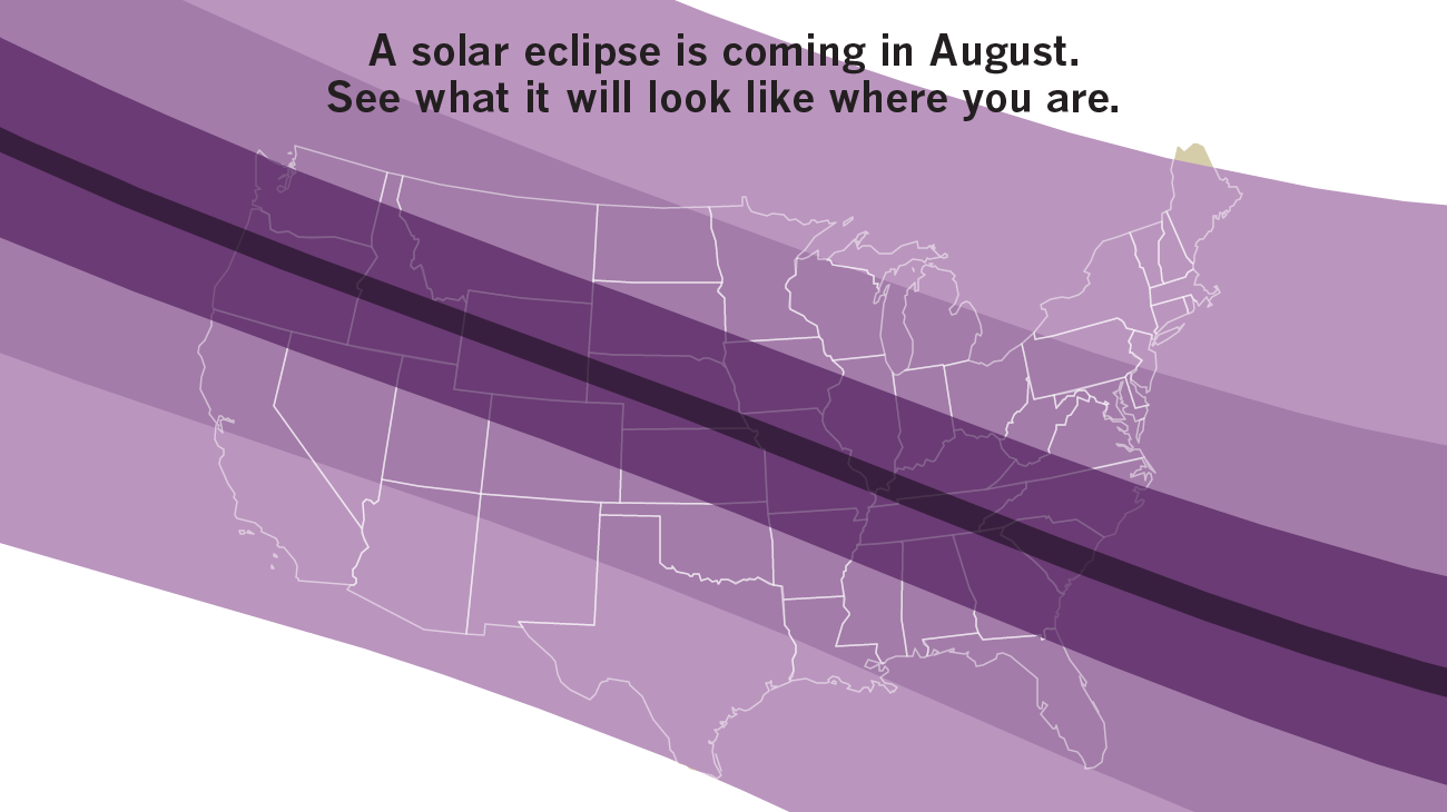 Click on this map to see what the eclipse will look like where you live.
