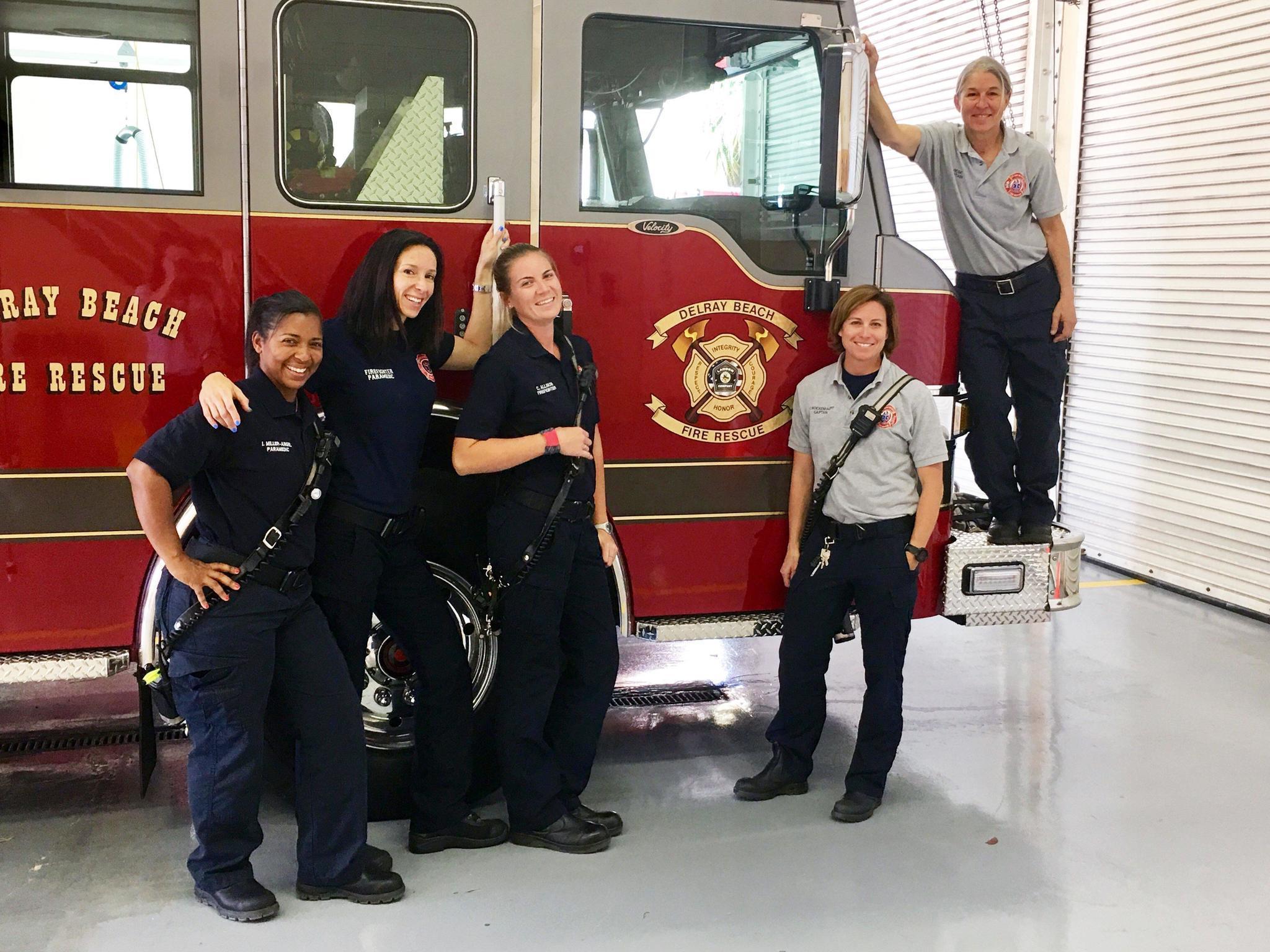 Women Of Delray Beach Fire Rescue Share Equal Pion For Saving Lives Sun Sentinel