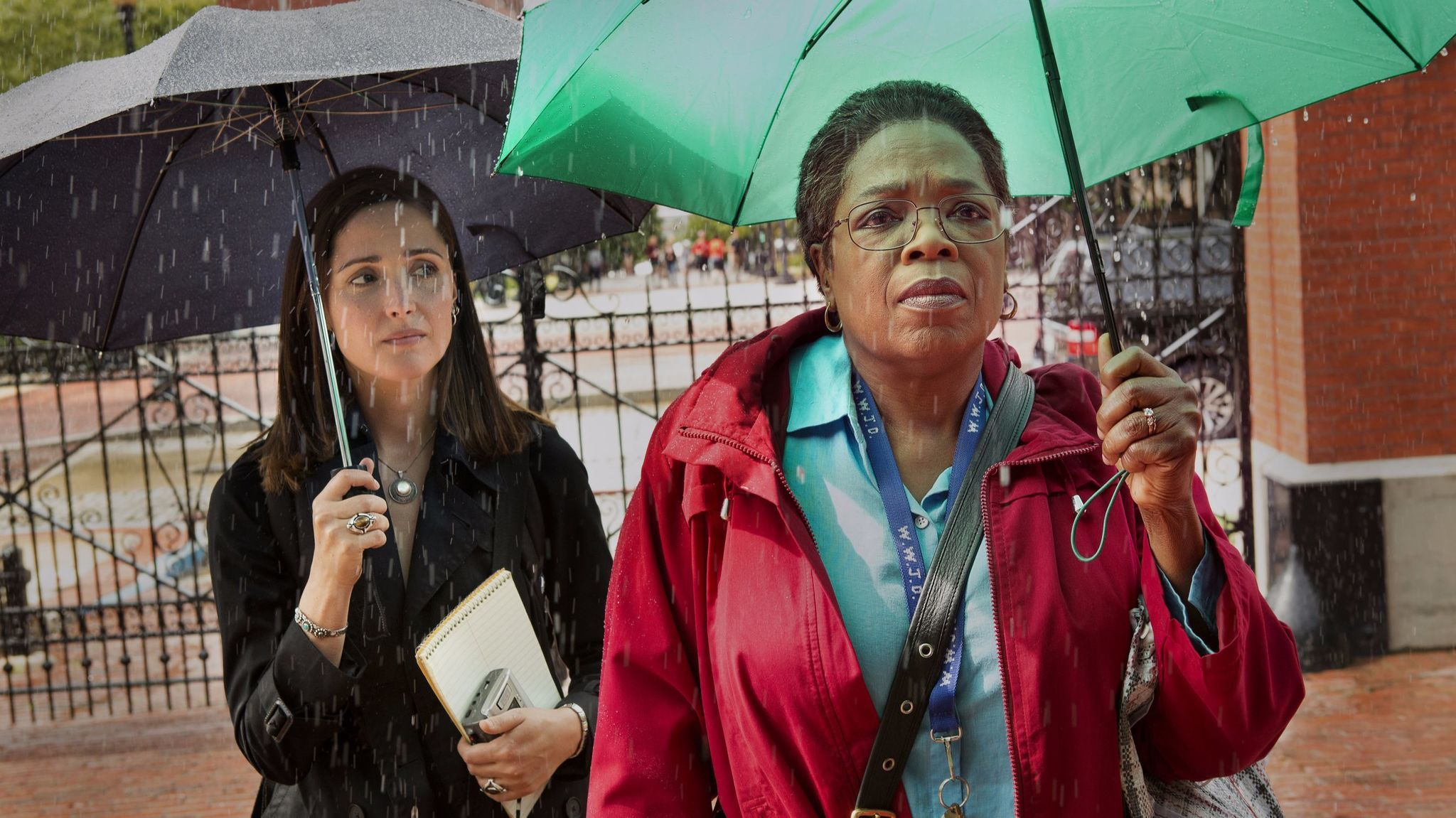 "Rose Byrne and Oprah Winfrey in a scene from HBO film ""The Immortal Life of Henrietta Lacks."""