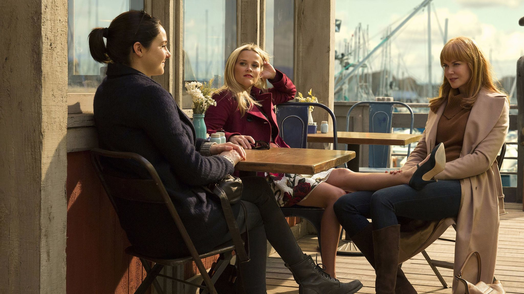 "From left: Shailene Woodley, Reese Witherspoon and Nicole Kidman in ""Big Little Lies."""