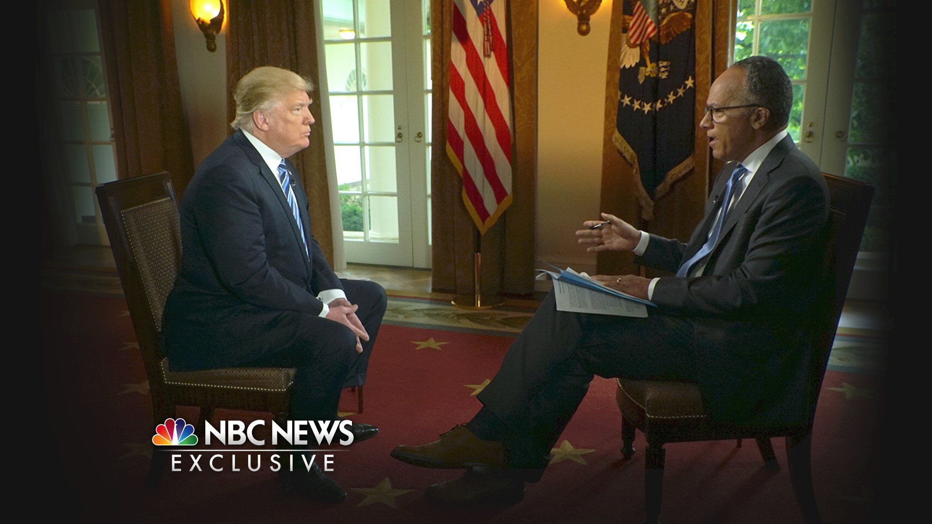 NBC's Lester Holt interviews President Trump on May 11.