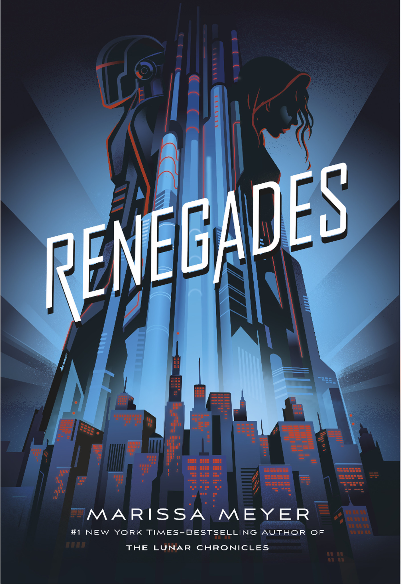"""The cover of """"Renegades"""" by Marissa Meyer."""
