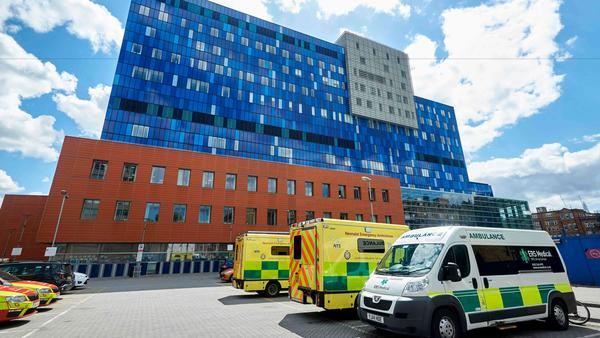 A picture shows the exterior of The Royal London Hospital in London on May 14, 2017.The unprecedented global cyberattack has hit more than 200,000 victims in scores of countries.