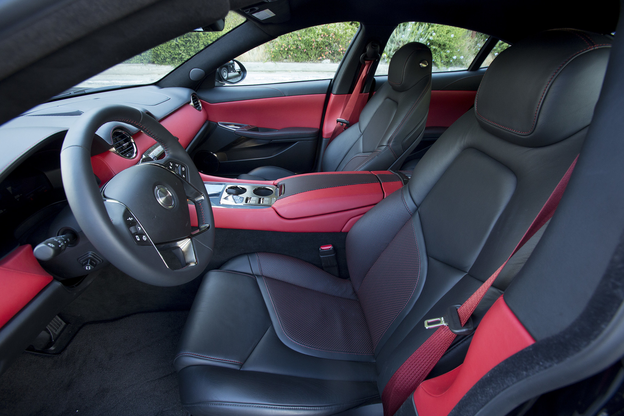 The Revero designers have outfitted their luxury car with rich, supple leather for a comfortable GT driving experience.