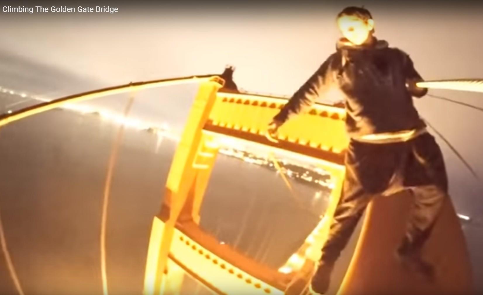 Daredevils Climb Top Of Golden Gate Bridge And Perform