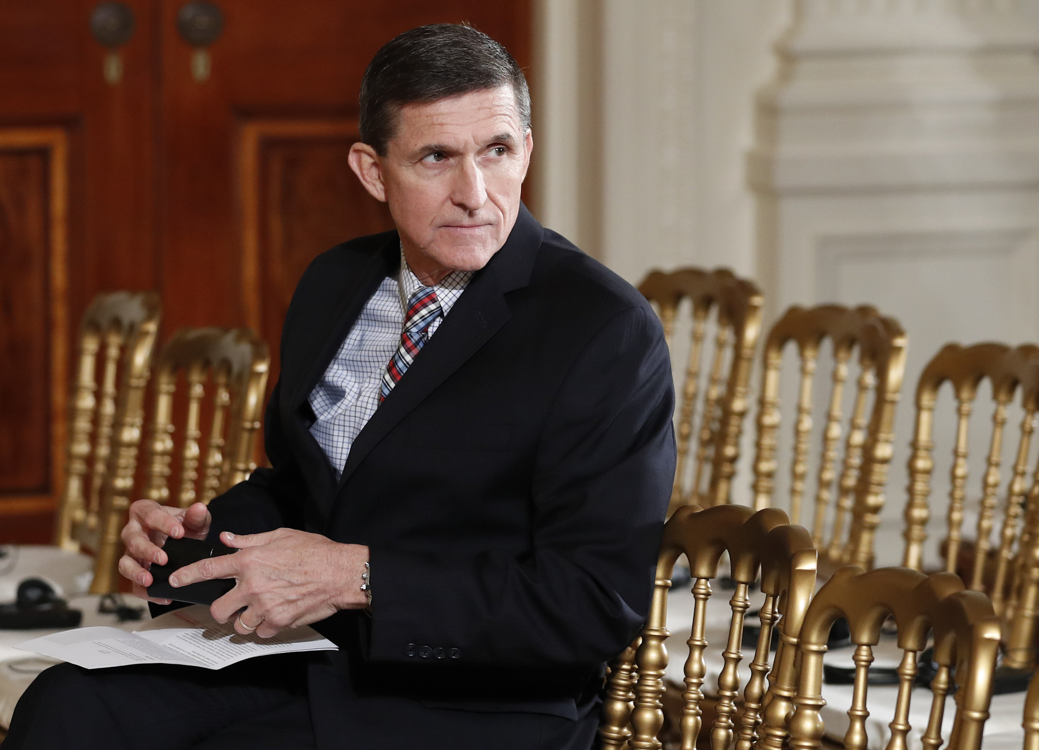 Michael Flynn at the White House on Feb. 10.