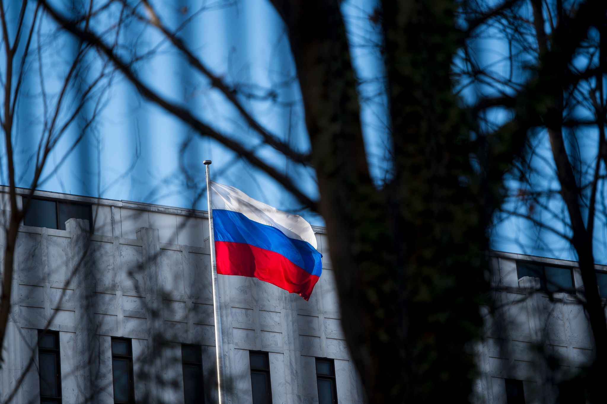 The Russian Embassy in Washington.