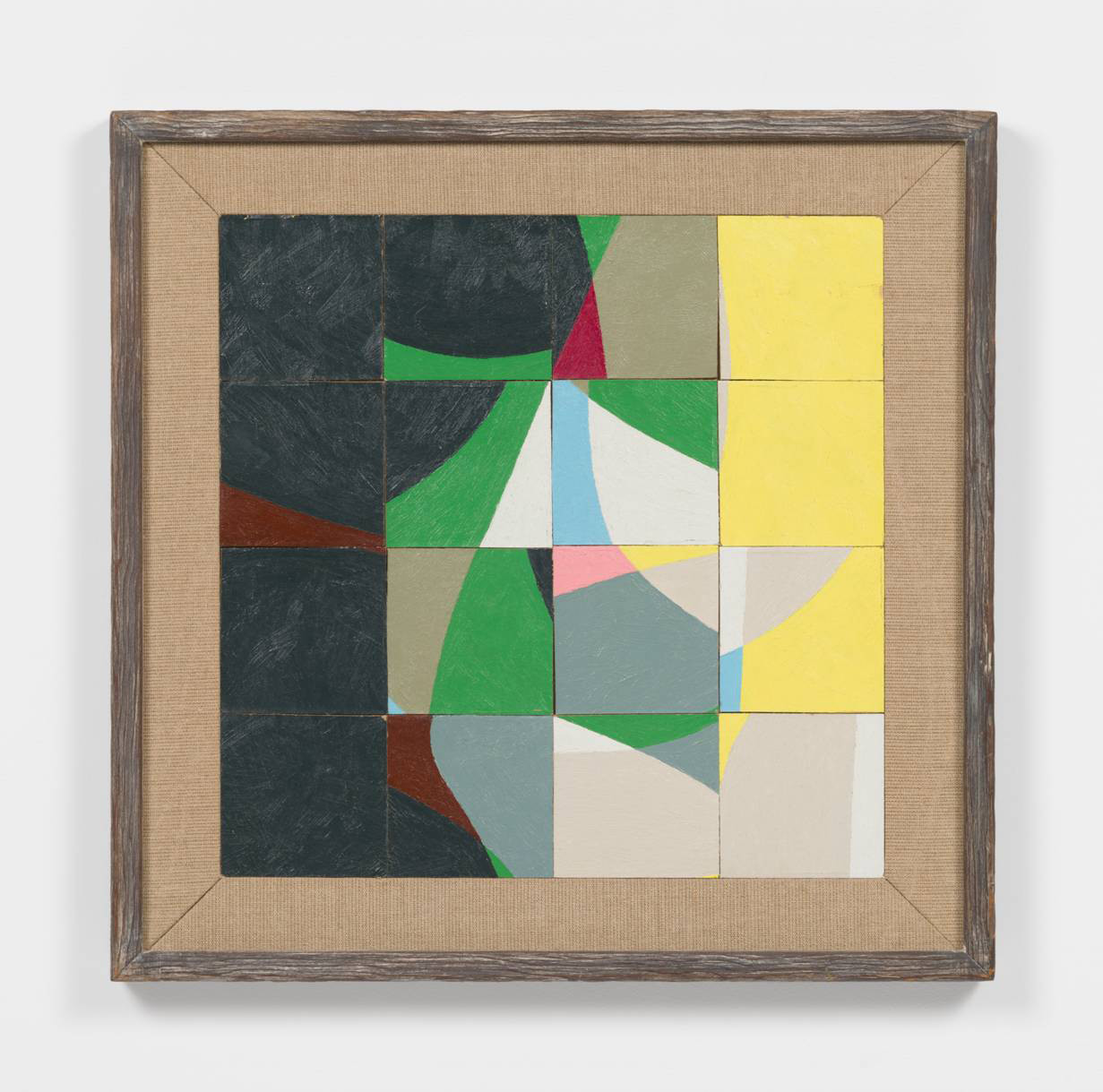 "Frederick Hammersley's ""Cut Up,"" 1964, oil on chipboard panel in artist-made frame, 21.25 inches by x 21.25 inches"