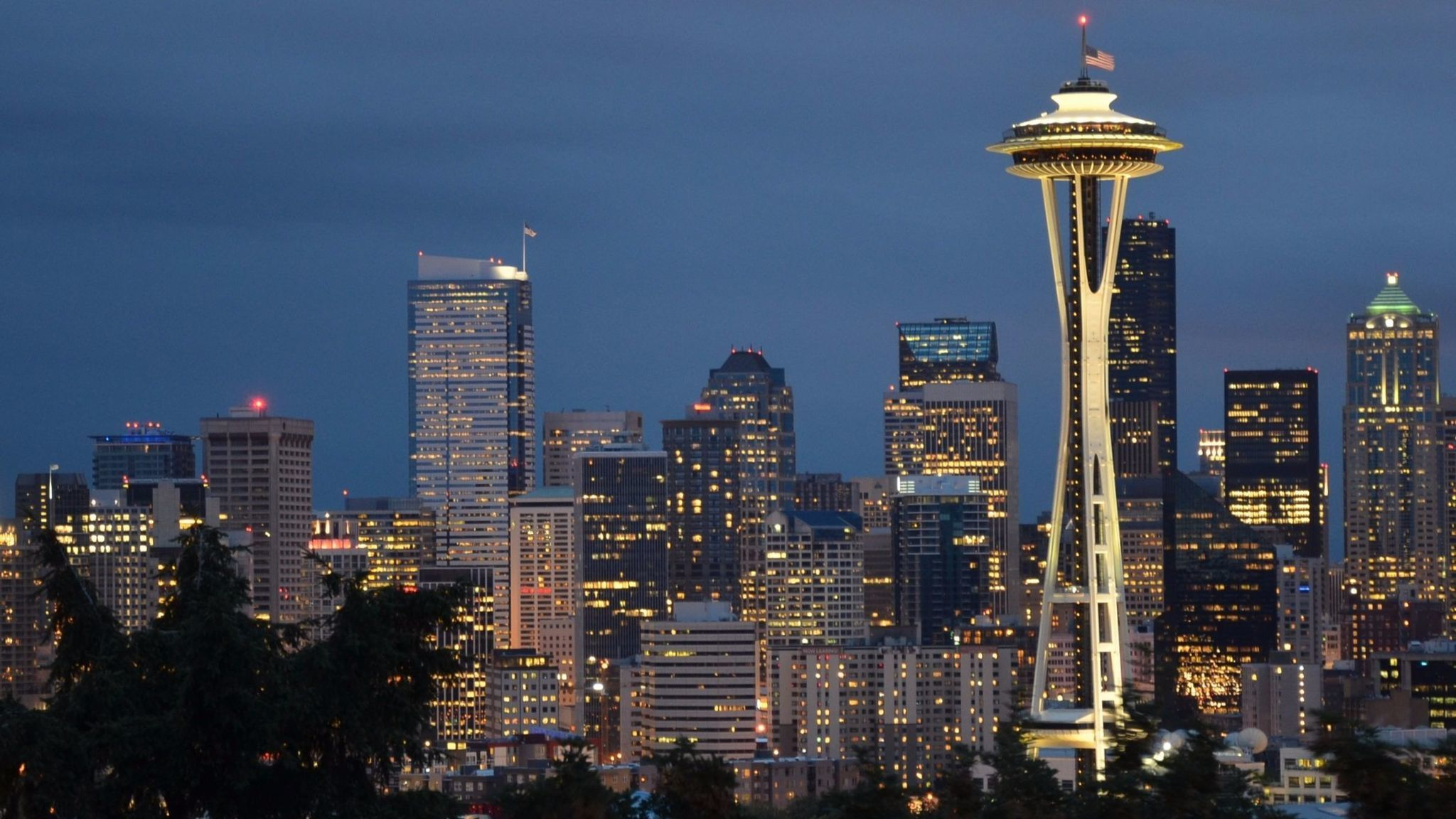 Seattle's Space Needle is centerpiece to the skyline view from Kerry Park on Queen Anne Hill. Seattle will be a popular place to go for Memorial Day weekend.