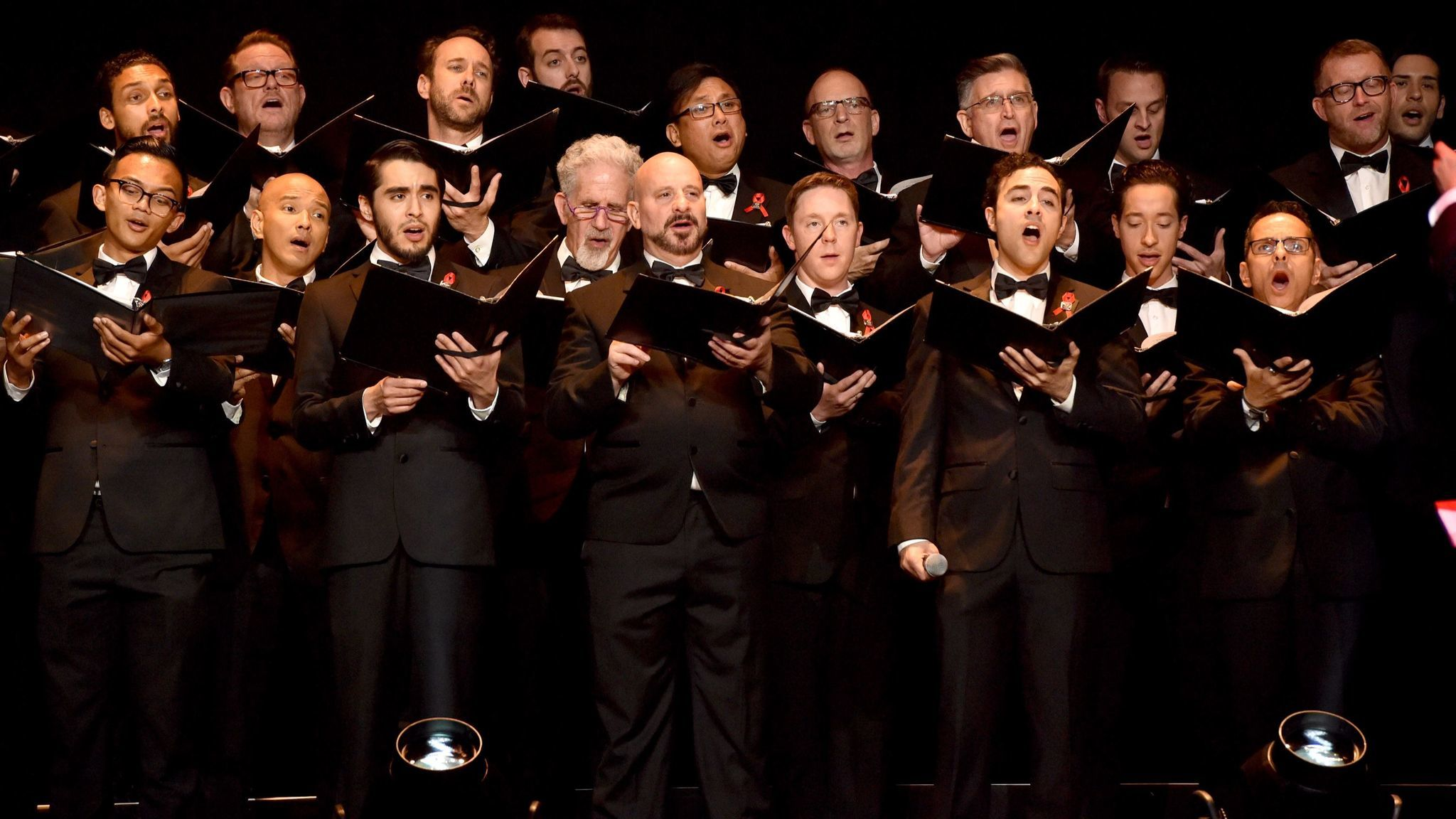 The Gay Men's Chorus of Los Angeles sings a medley of movie music composed by honoree Stephen Schwartz.