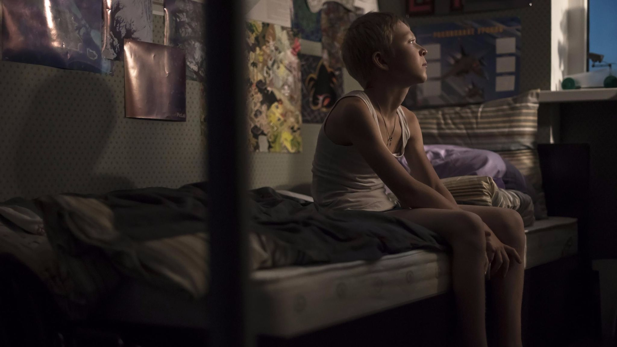 """Matvey Novikov in the film """"Loveless."""""""