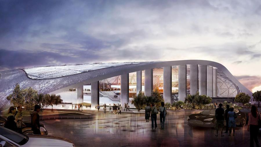 latest renderings of nfl stadium in inglewood chicago tribune