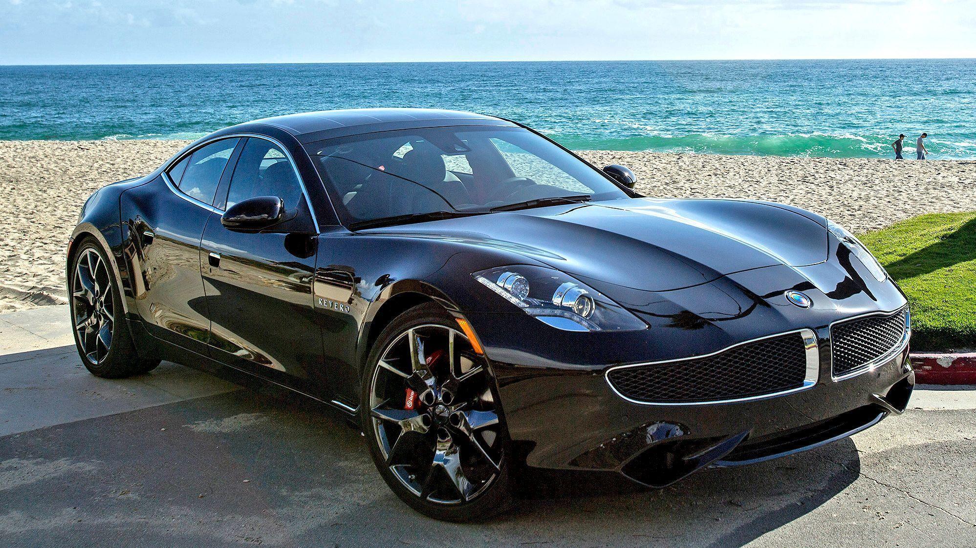 Black New Electric Car