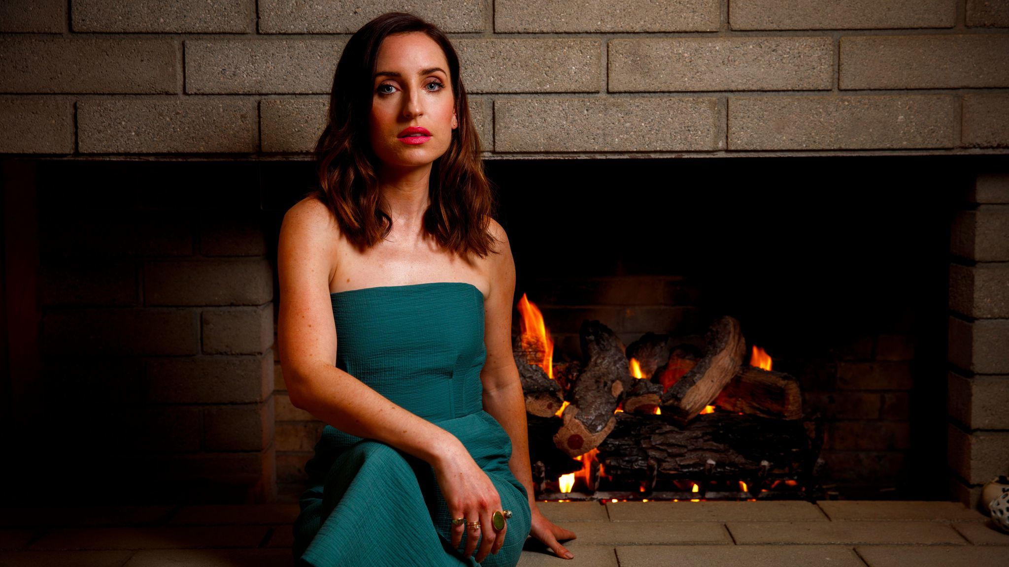 Actress and director Zoe Lister-Jones at home in Studio City.
