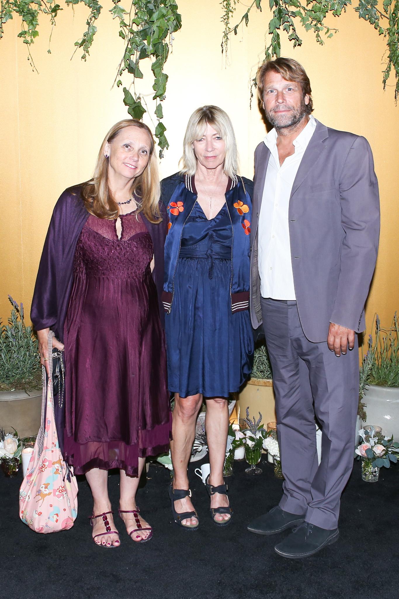 Artists Marnie Weber, left, and Kim Gordon with writer Jamie Brisick.