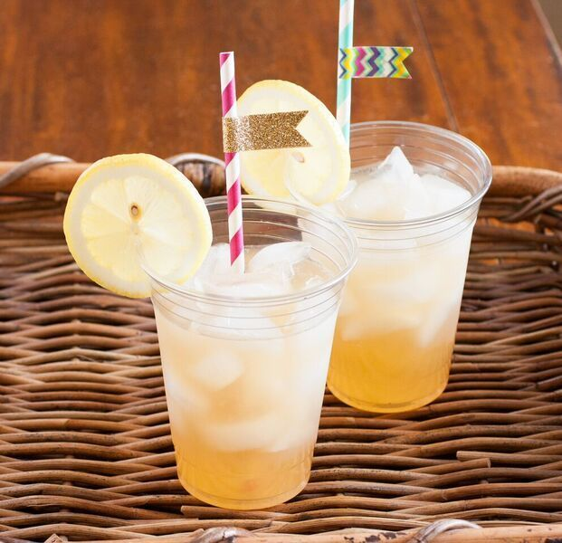 """The Lemonade Stand Cookbook"" incudes crafts like washi-tape straw flags and recipes like lemonade ice tea."