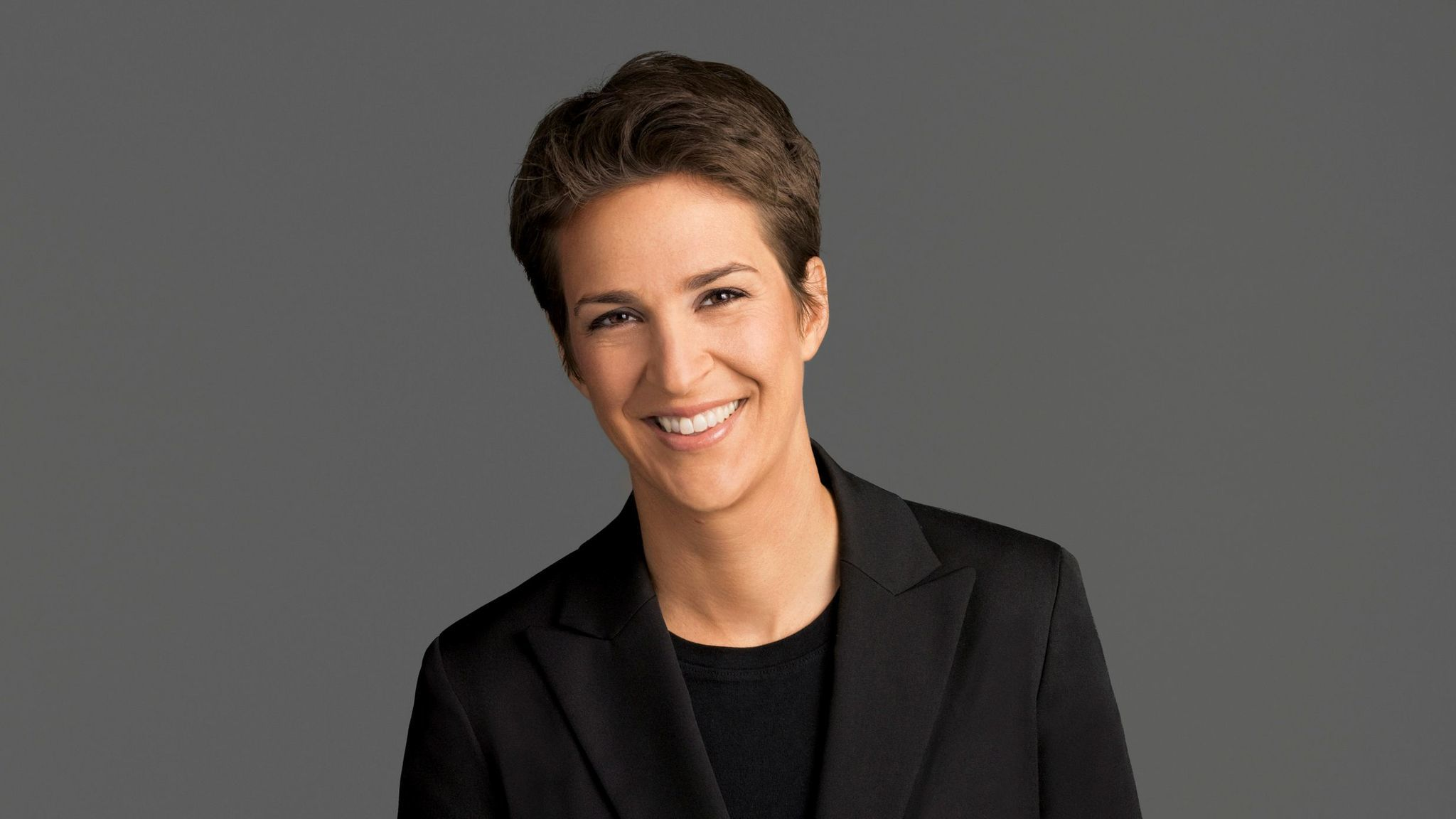 "Rachel Maddow hosts ""The Rachel Maddow Show"" on MSNBC."