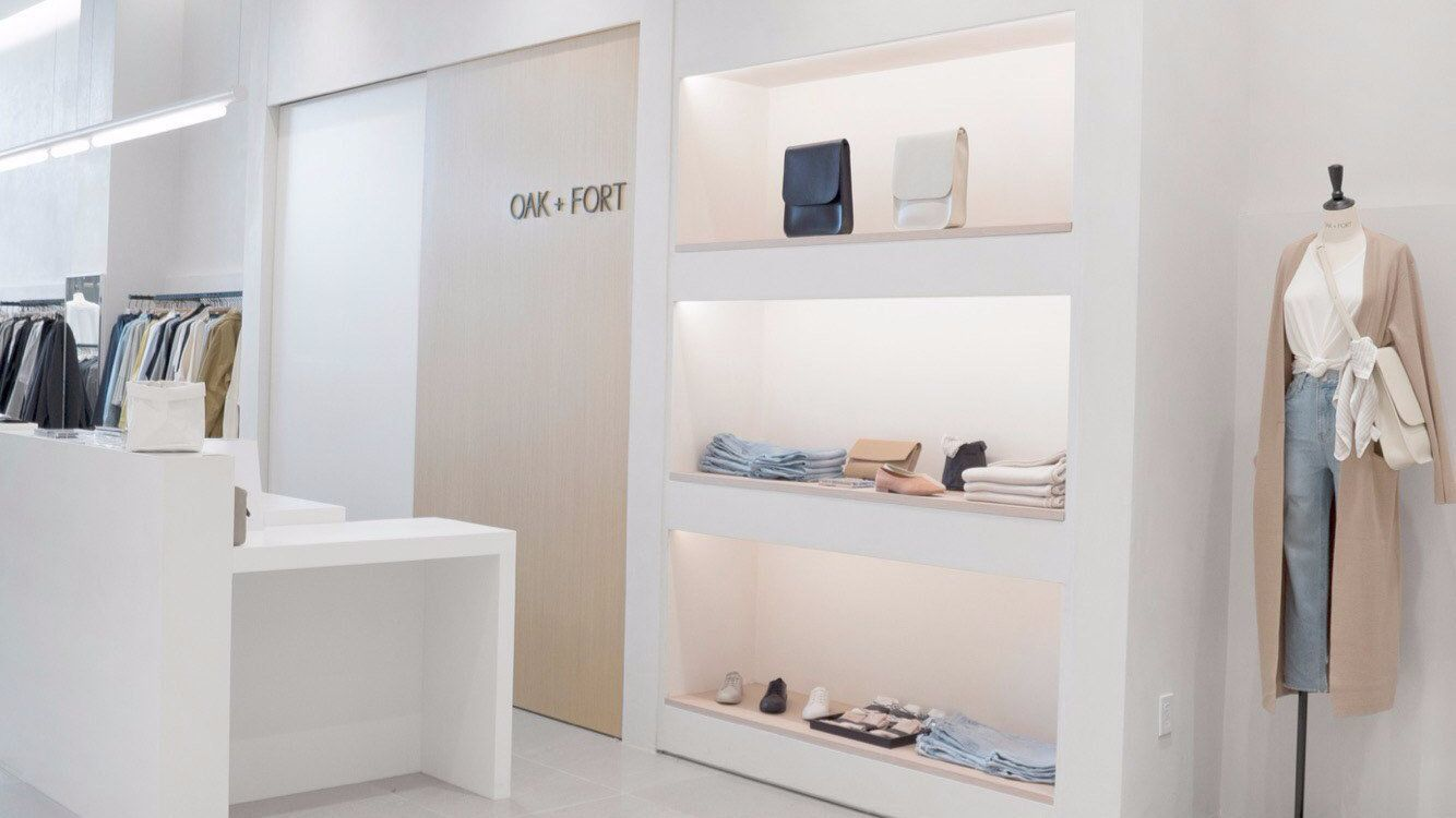 A look inside the new Oak + Fort store at Westfield Century City.