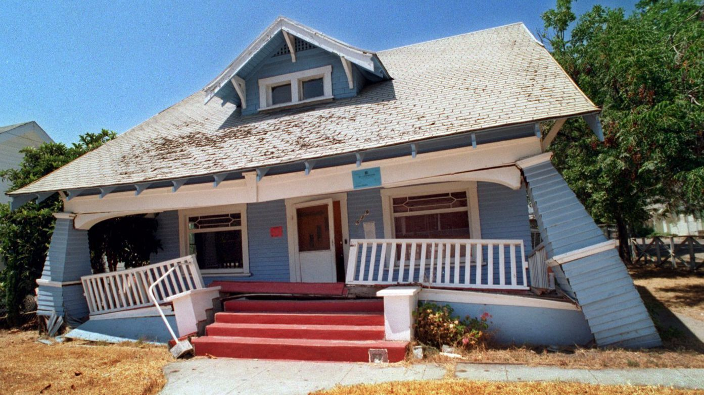 A home in Fillmore, Calif., nearly six months after the 1994 Northridge earthquake.