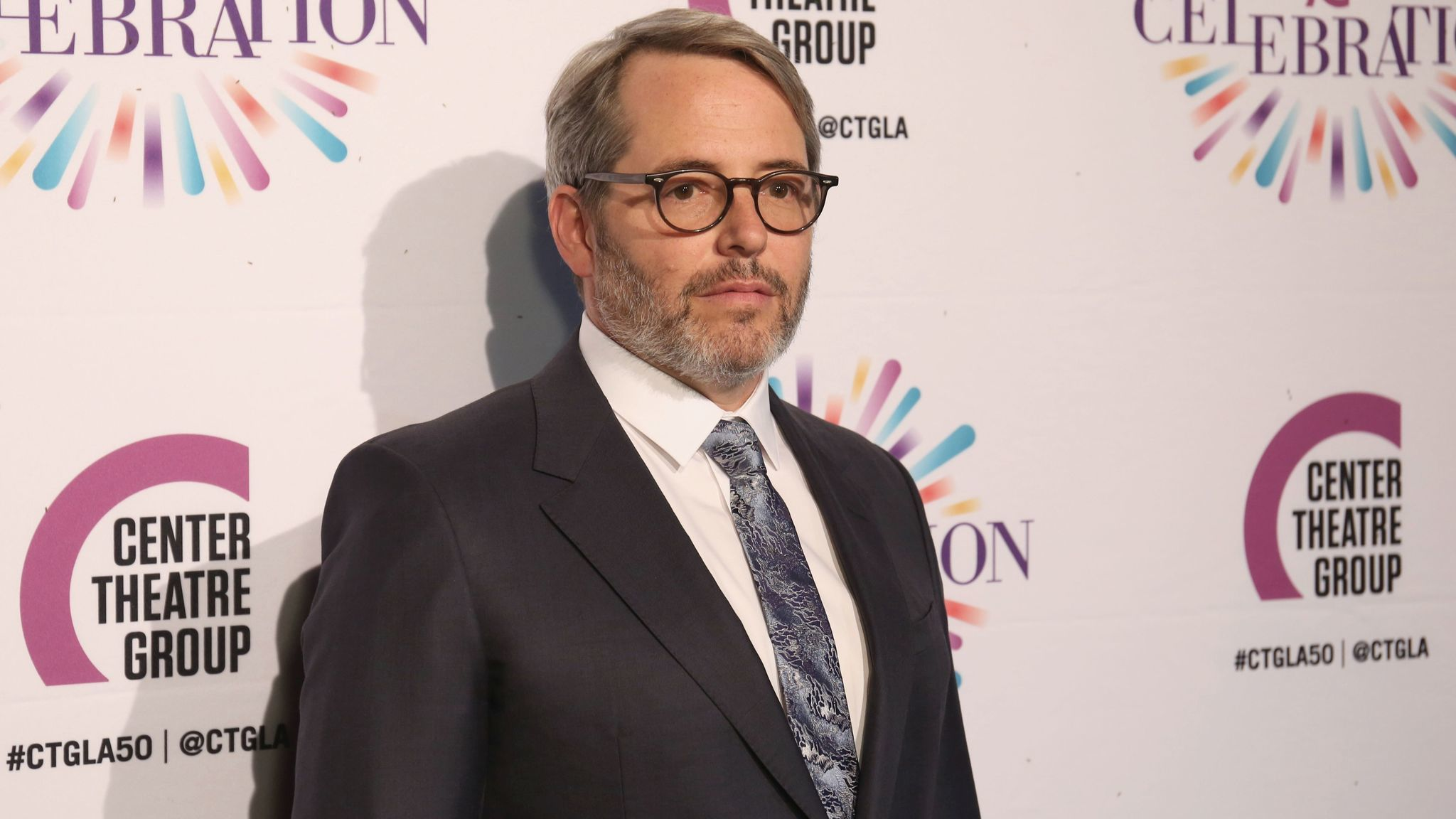 Matthew Broderick arrives at the Center Theatre Group's 50th anniversary event on May 20 in Los Angeles.
