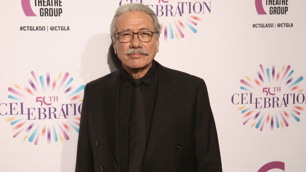Edward James Olmos arrives at Center Theatre Group's 50th anniversary event.