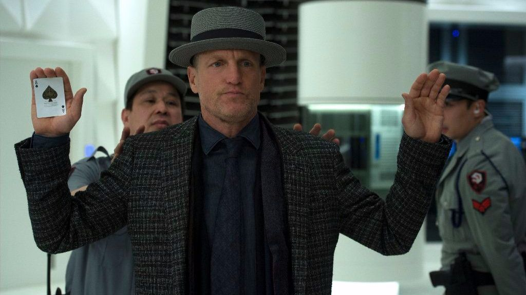 "Woody Harrelson as Merritt McKinney in ""Now You See Me 2."""