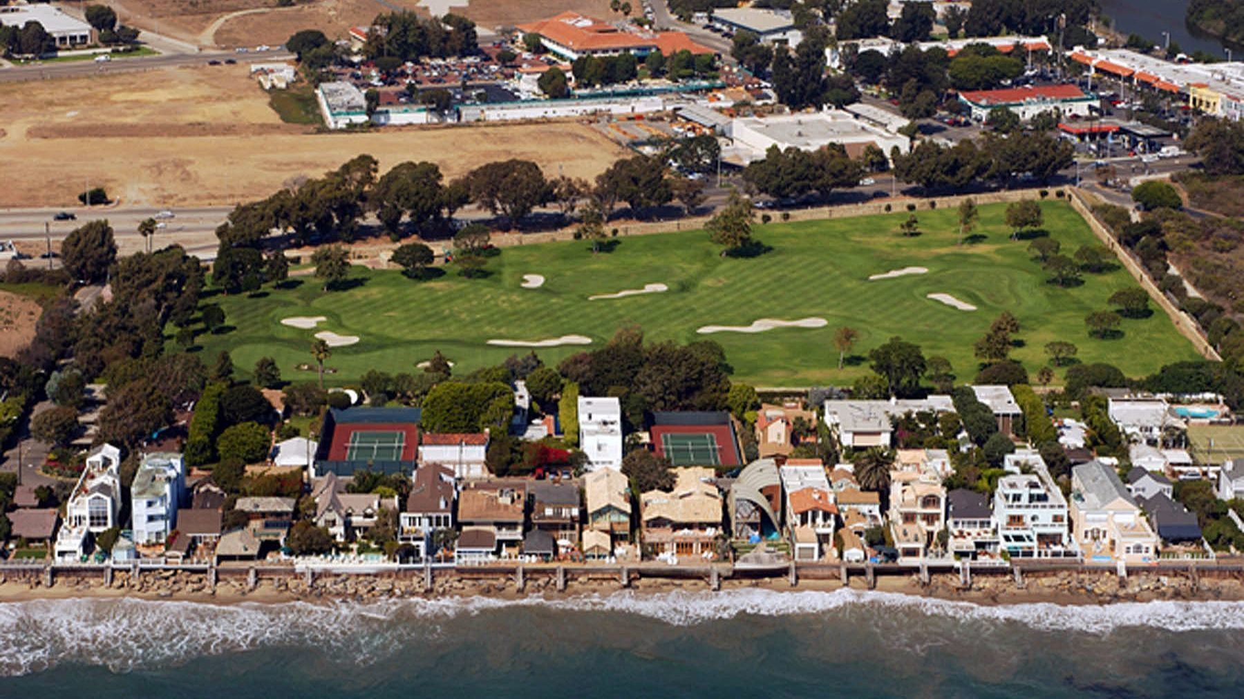 """. Jerrold Perenchio and wife Margaret are the largest landholders in Malibu. Their property includes a golf course, above. They also own the """"Beverly Hillbillies"""" mansion in Bel-Air."""
