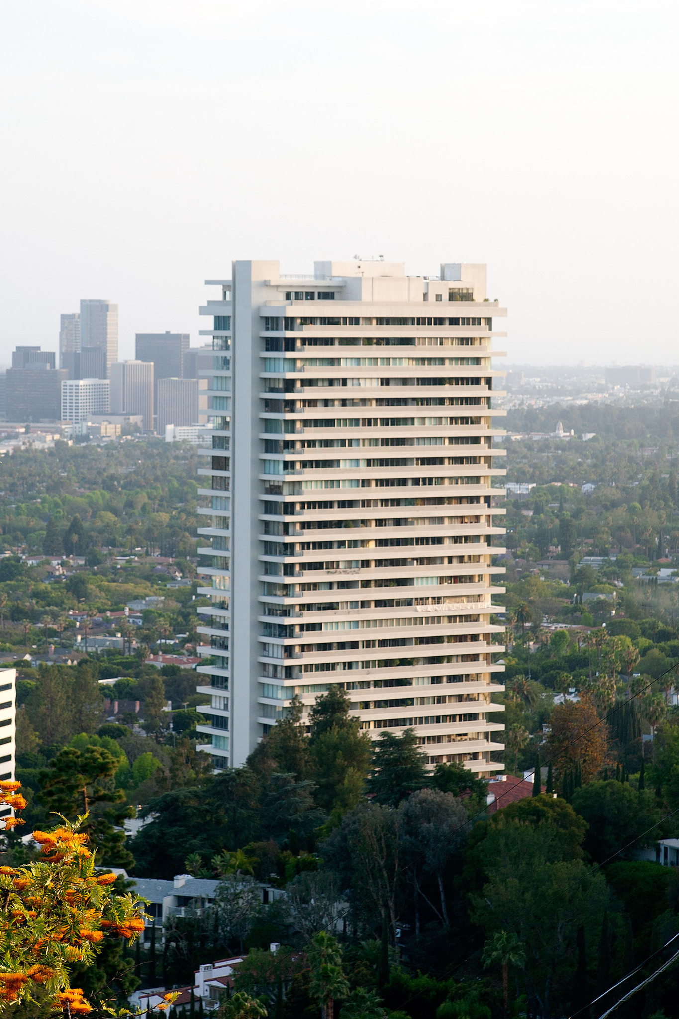 Joan Collins, Elton John and Cher are among past and present residents of the Sierra Towers in West Hollywood.