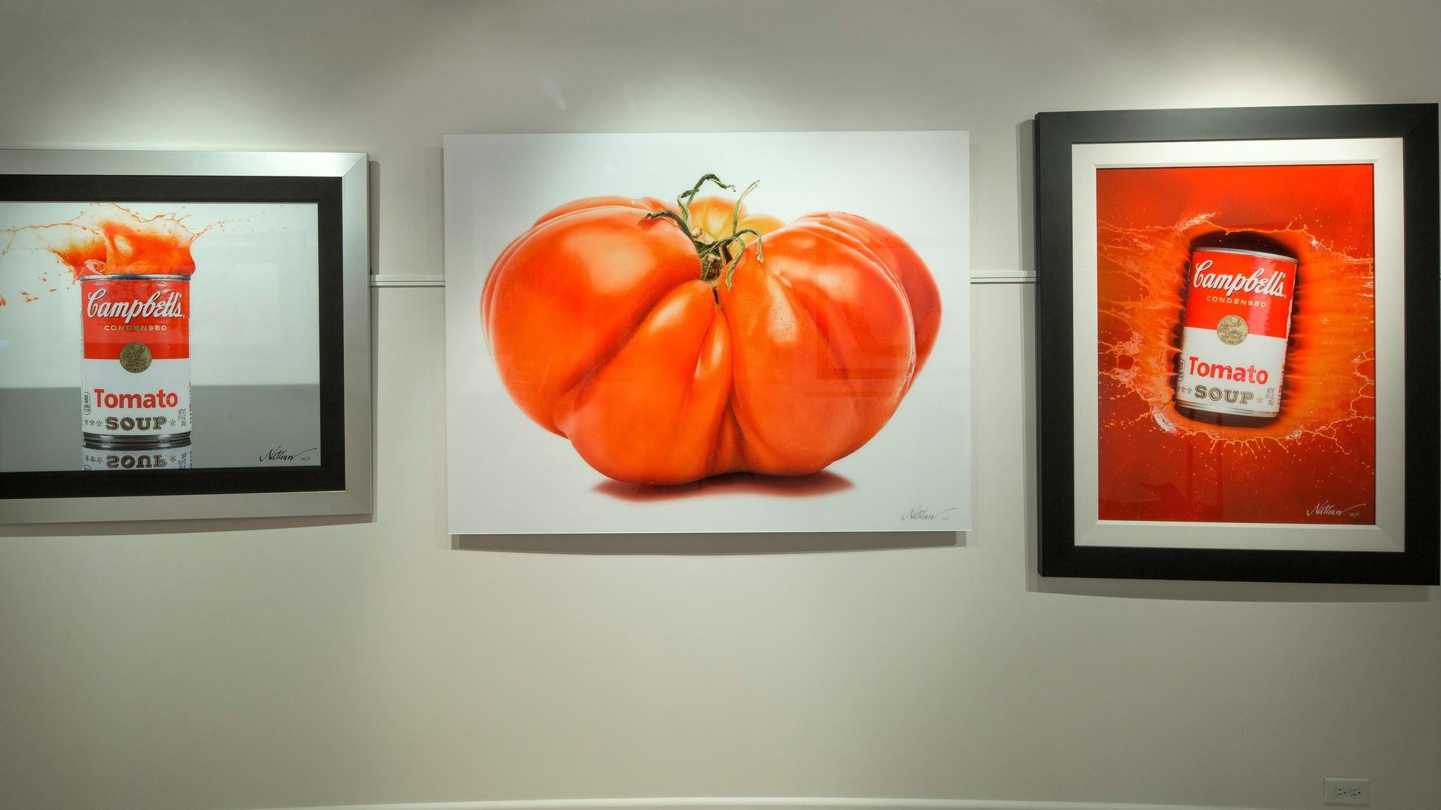 Images created by Nathan Myrhvold, who describes himself as a photographer, chef, scientist and author, are displayed at Myhrvold's gallery at the Forum Shops.