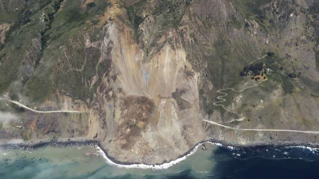 Saturday's landslide in Big Sur buried a stretch of Highway 1 under millions of tons of rock, dirt and debris.