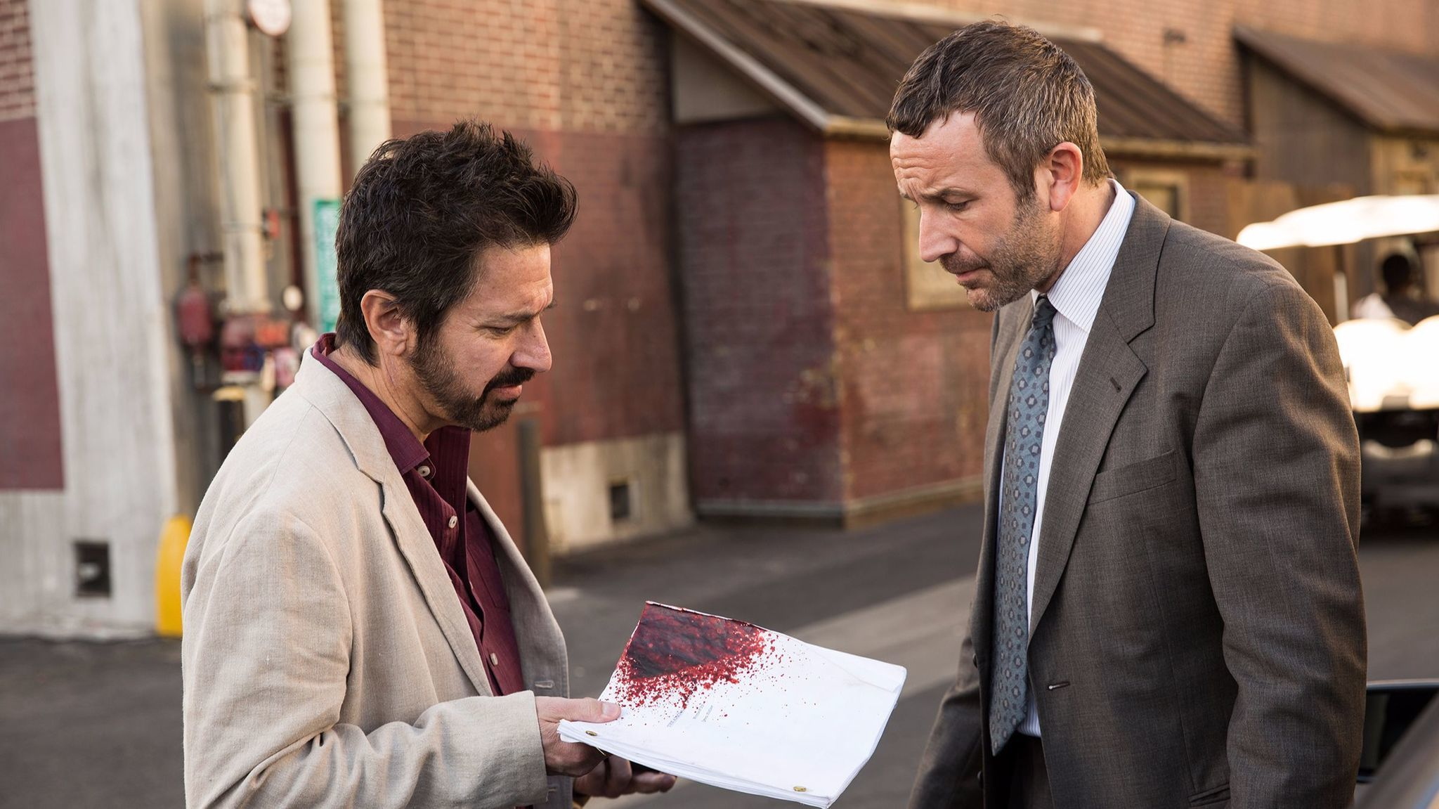 Ray Romano as Rick and Chris O'Dowd as Miles in the Epix series